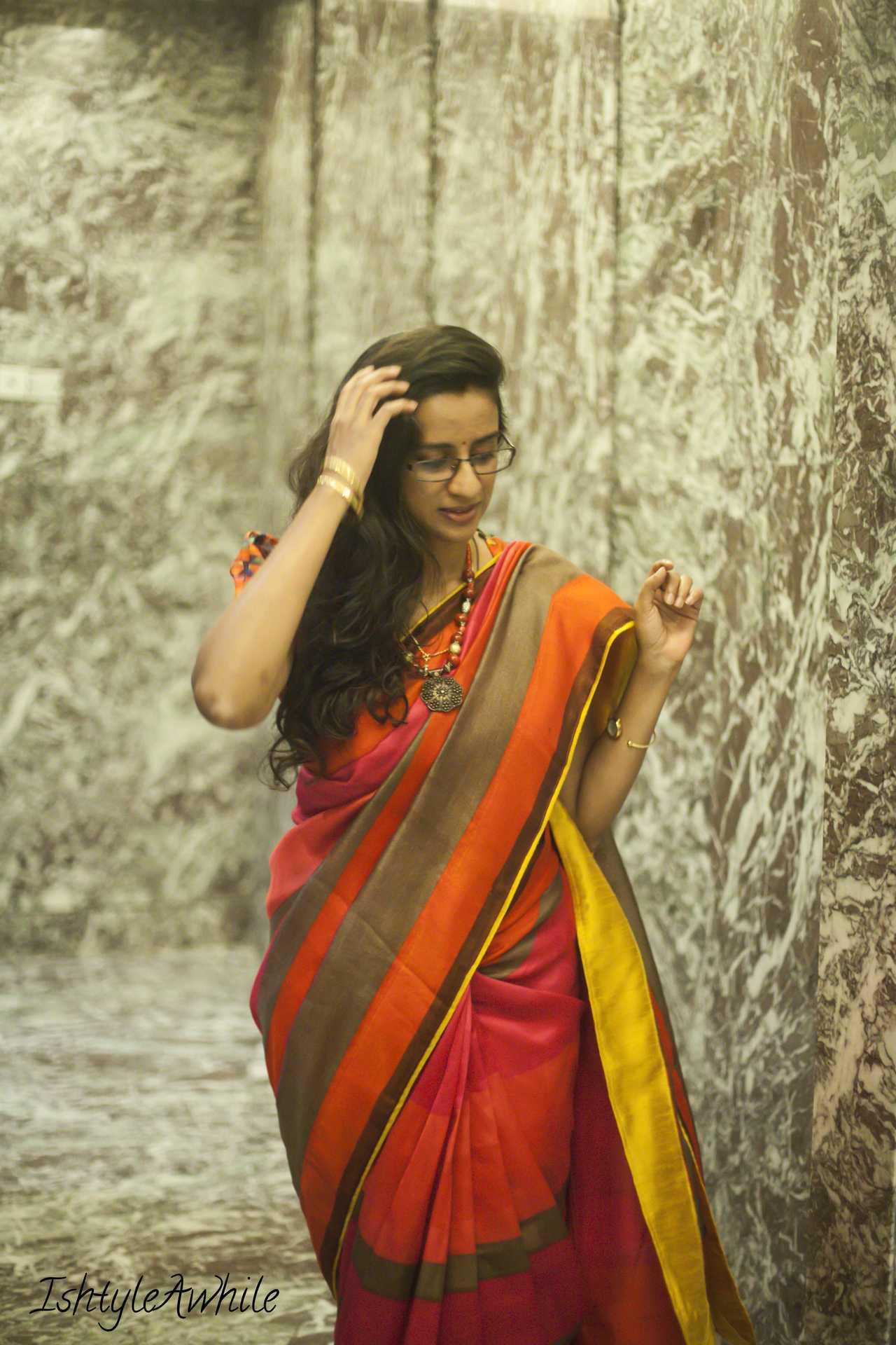 IshtyleAwhile - art silk sari styling