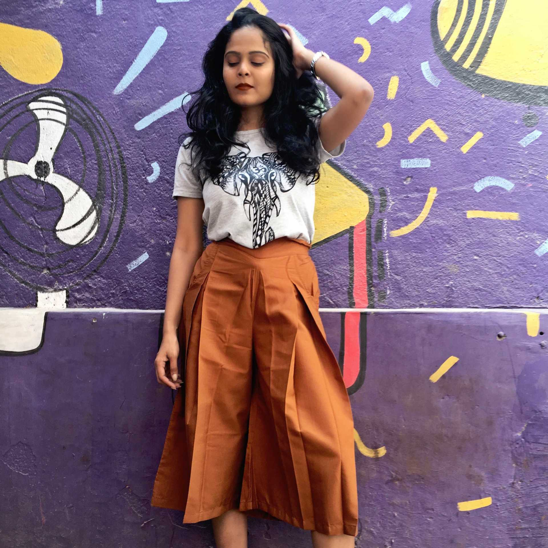 THE GLAM NUT - culottes-with-tshirt-3