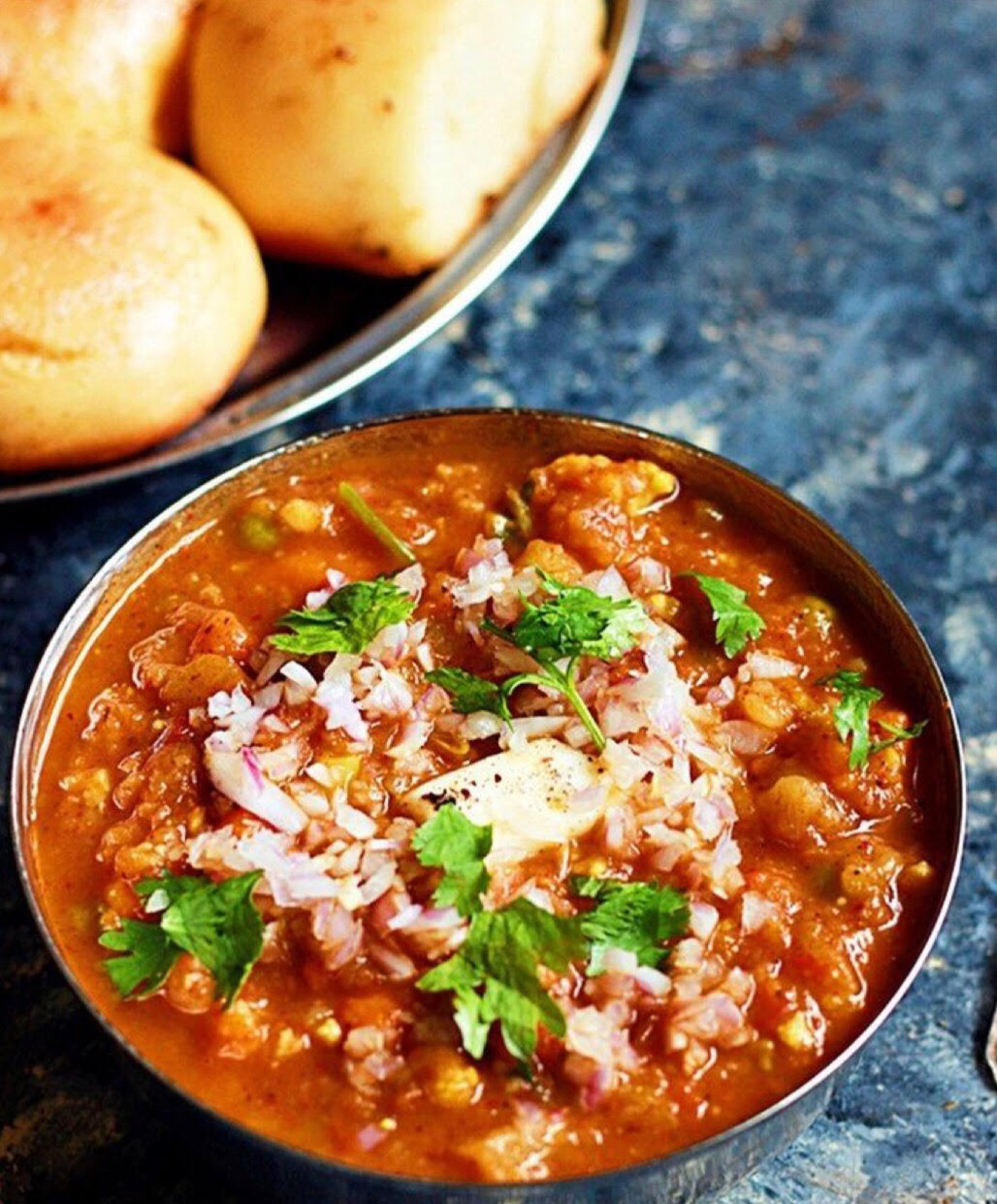 Portico Is Serving Chicken Pav Bhaji. image