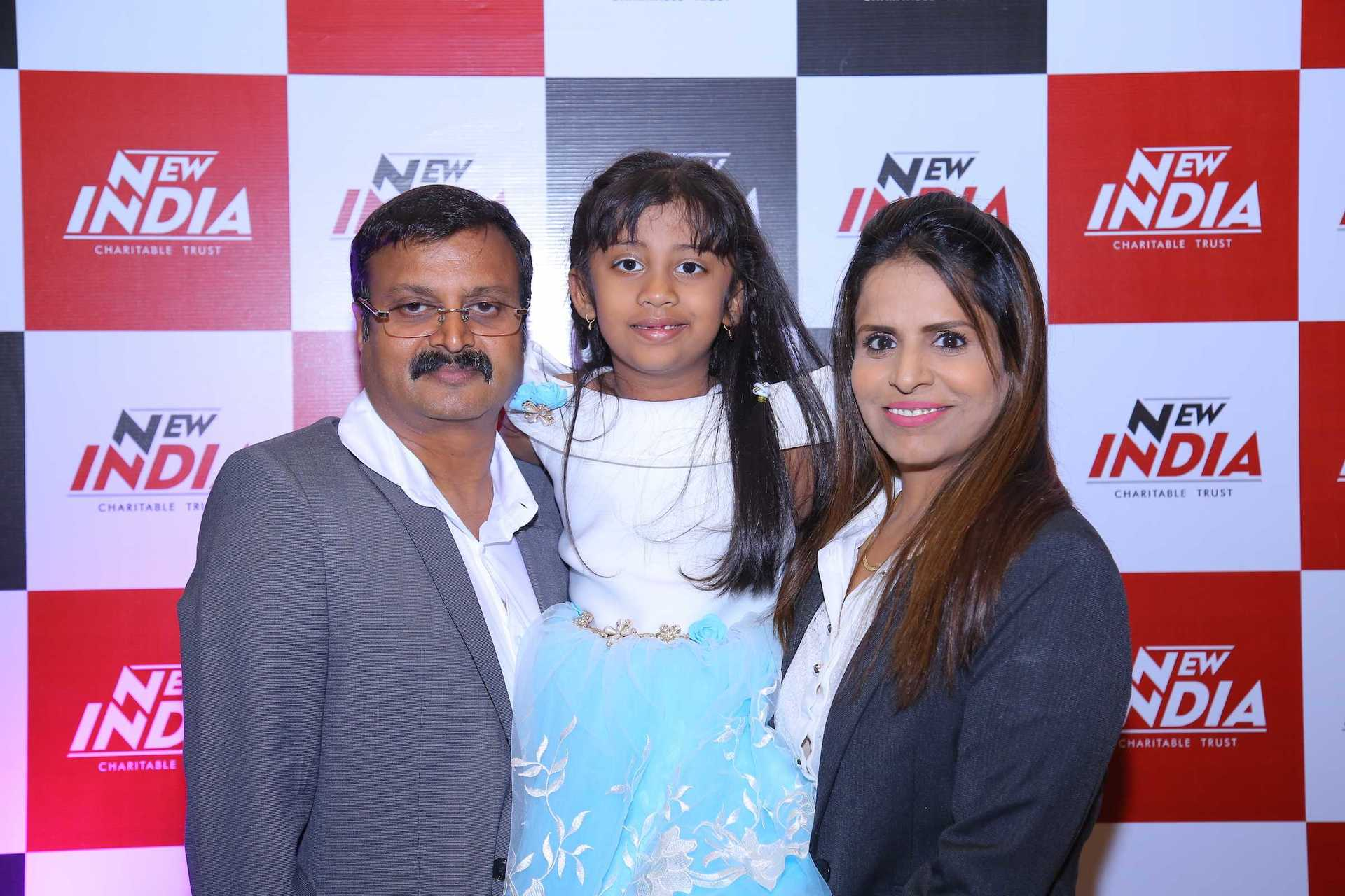 Itika Singh - Vijay Tata and Amrita Tata with their daughter Saanchi at the launch of India's First Cashless Cancer Hospital