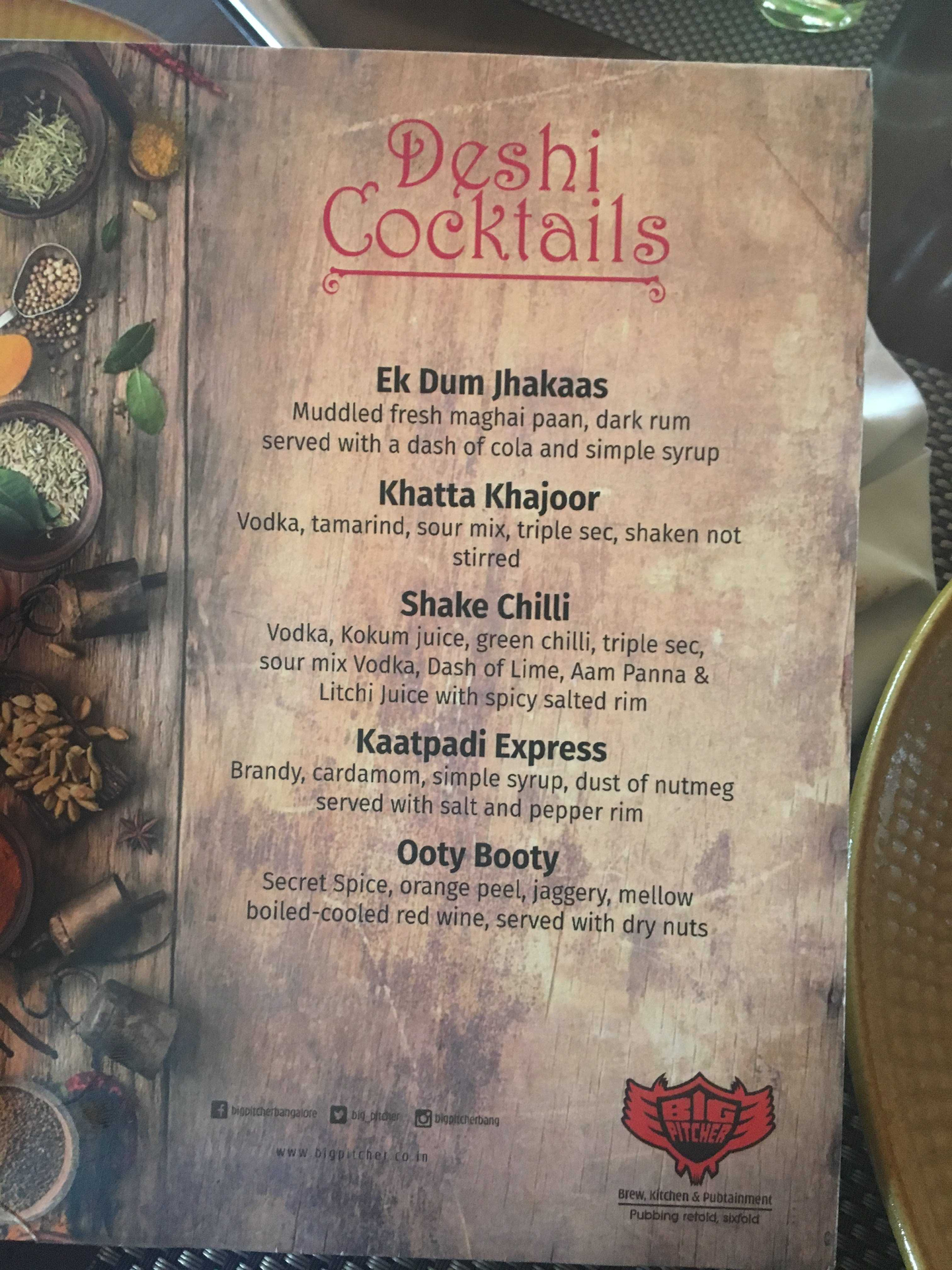 Cocktails with a touch of Desi Panti image