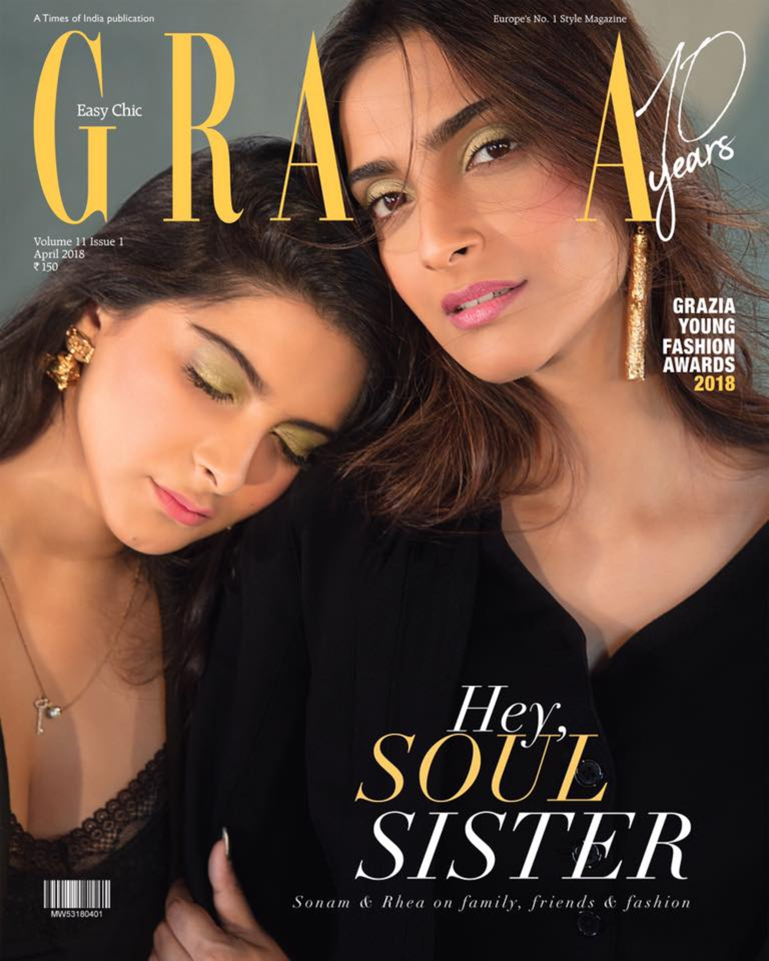 Sonam & Rhea grace the cover for Grazia India 10th Anniversary Issue image