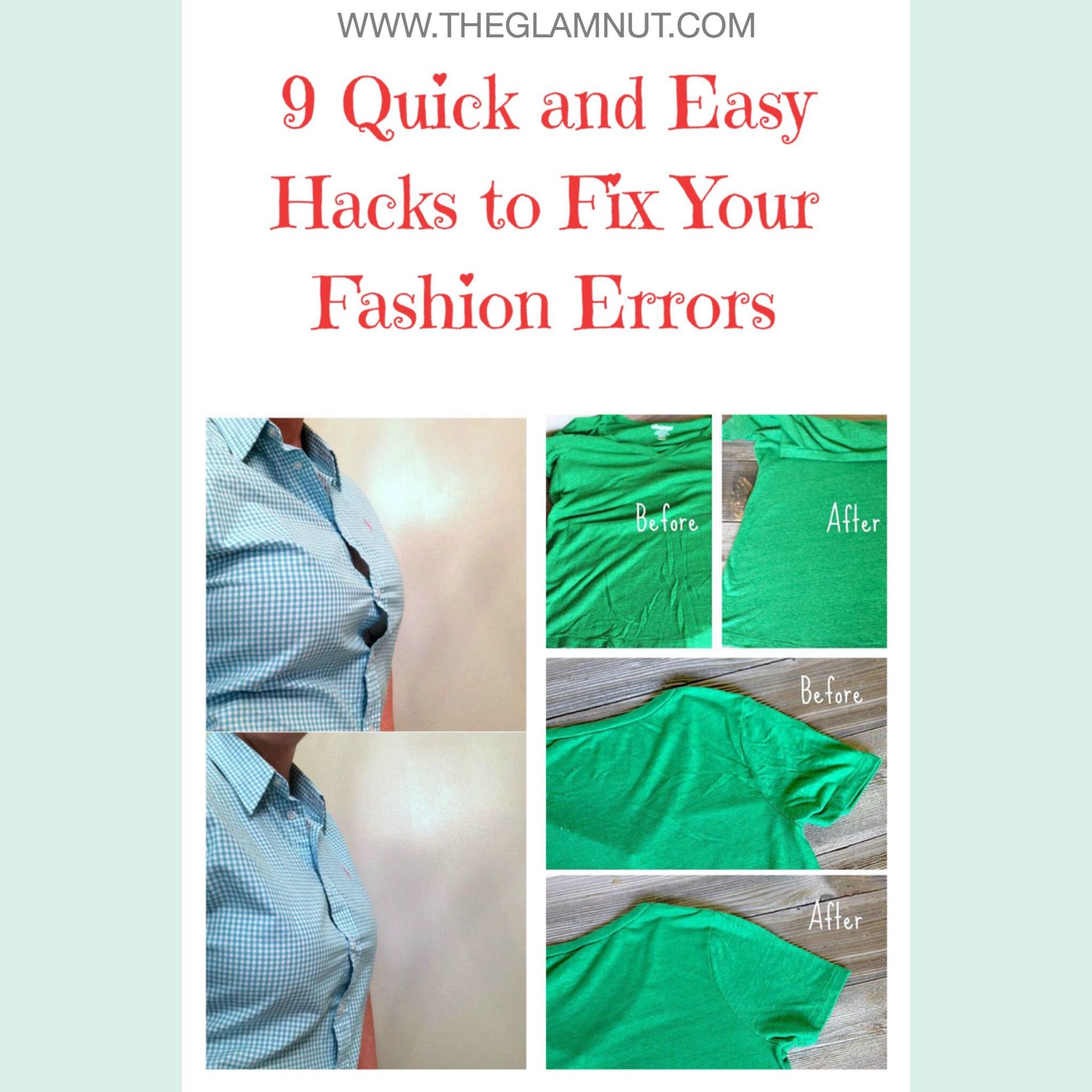 9 Quick And Easy Hacks To Fix Your Fashion Errors! image