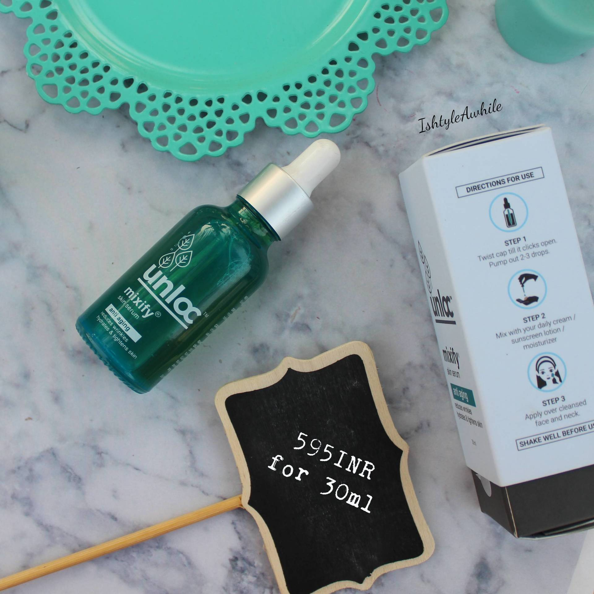 IshtyleAwhile - unloc anti ageing serum review