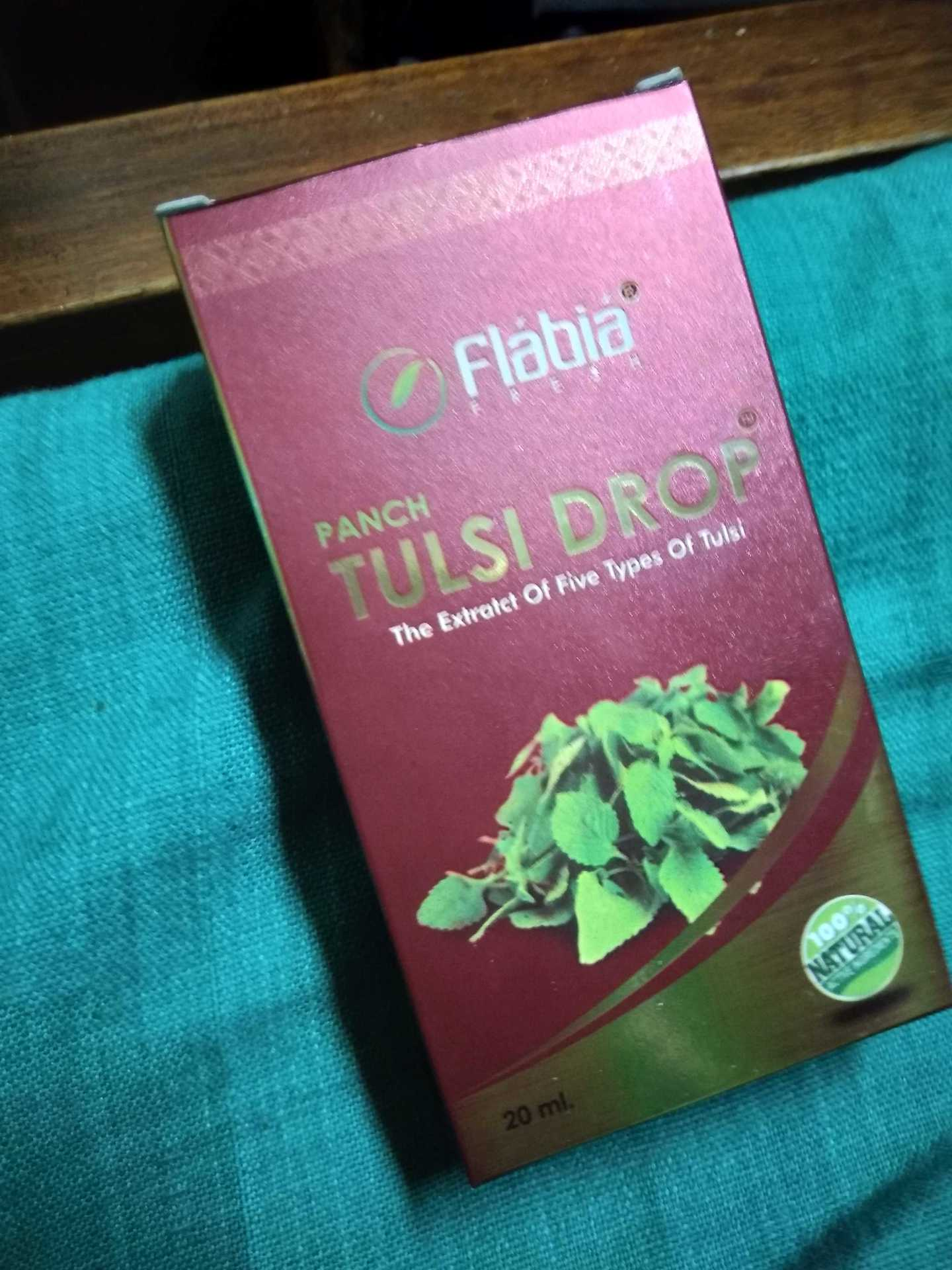 FLABIA FRESH PANCH TULSI DROP- The extract of Five types of Tulsi image