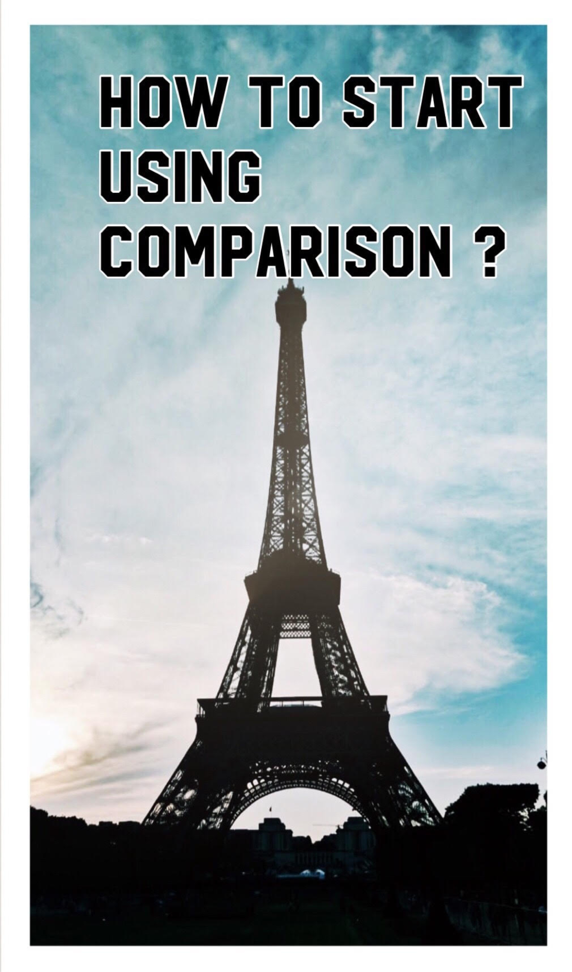 HOW TO START USING COMPARISON! image