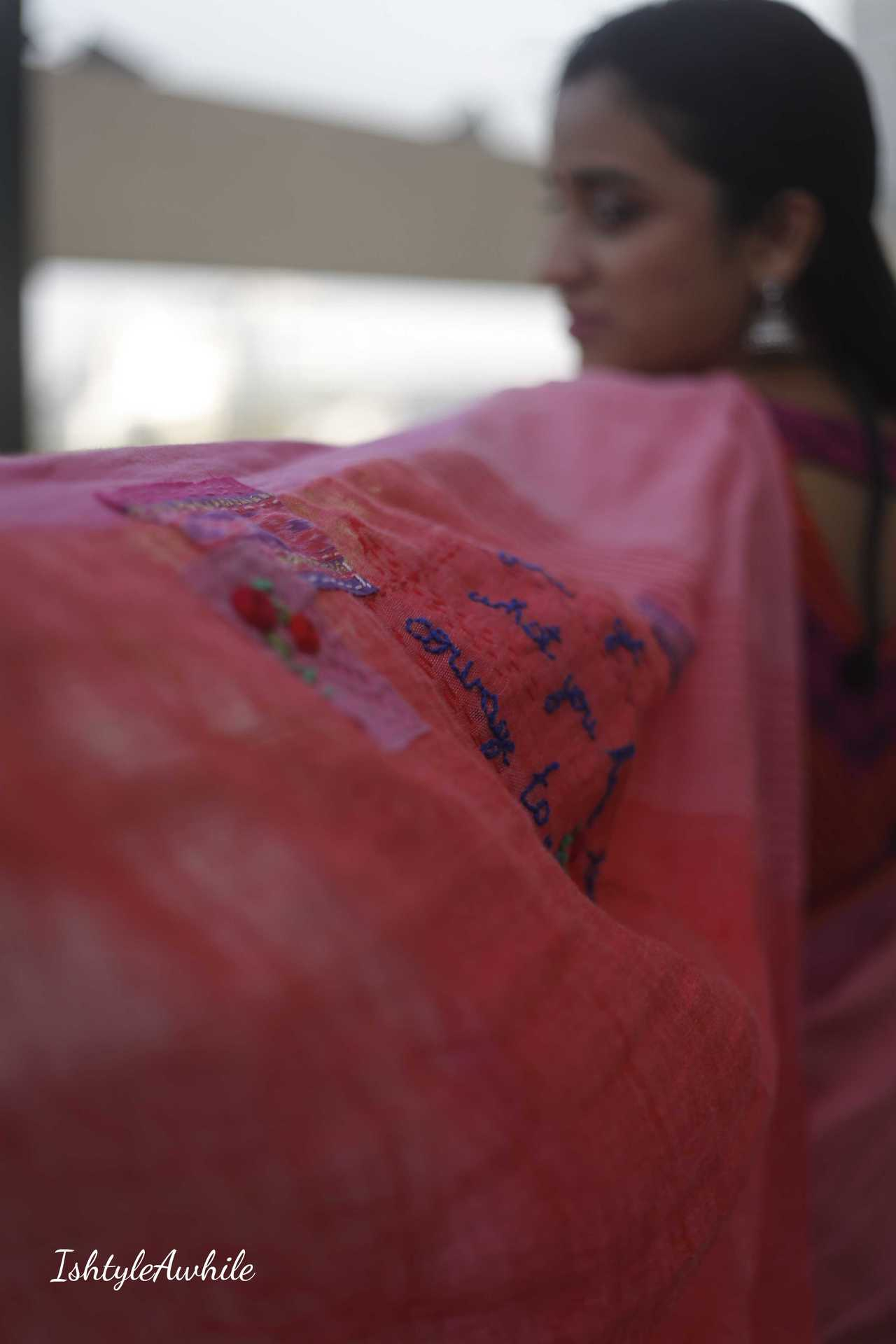 IshtyleAwhile - Shop online for linen saris in India