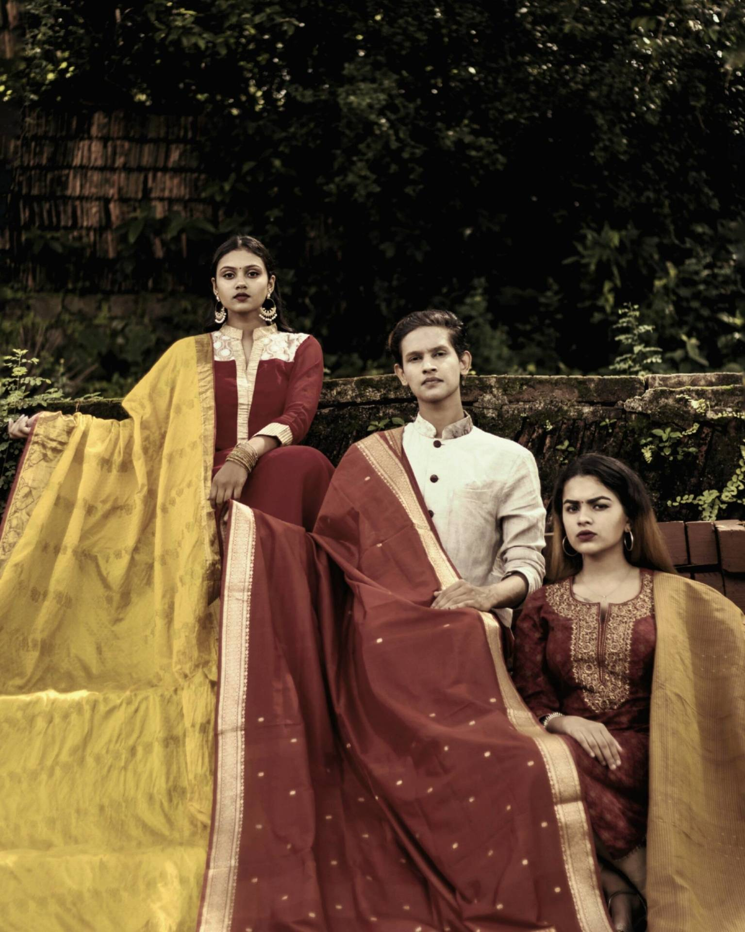 A TRIANGULAR TALE- OF ROYALTY & FABRIC. image