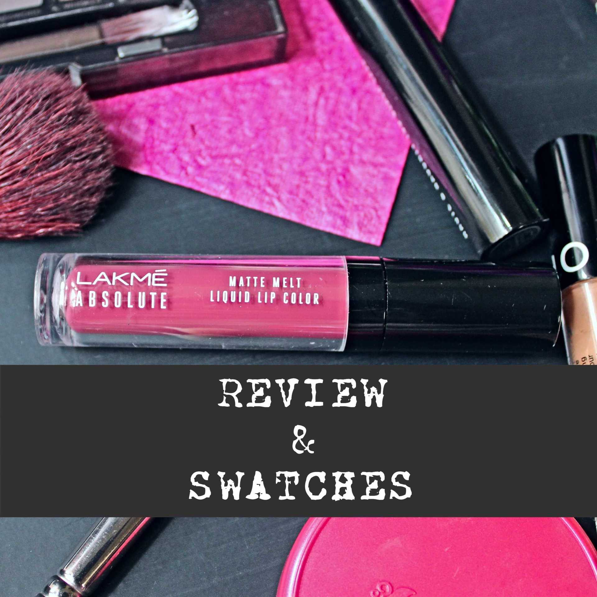 REVIEW: Lakme Matte Melt Liquid Lip Colour- Vintage Pink image