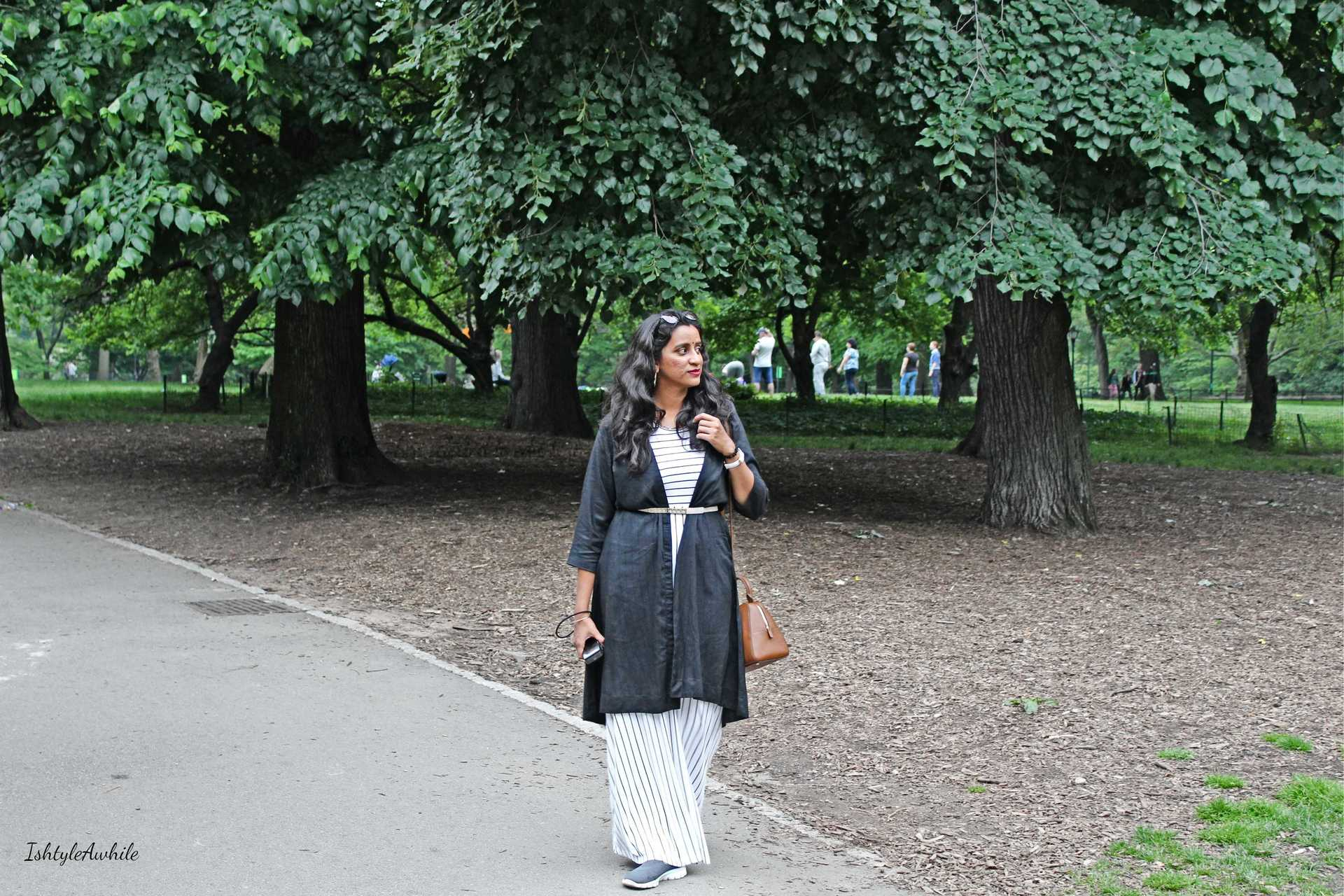 IshtyleAwhile - how_to_restyle a black and white maxi chennai fashion blogger