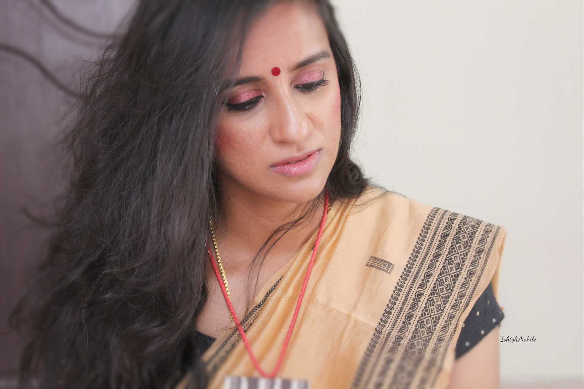 IshtyleAwhile - burgandy makeup look chennai beauty blogger