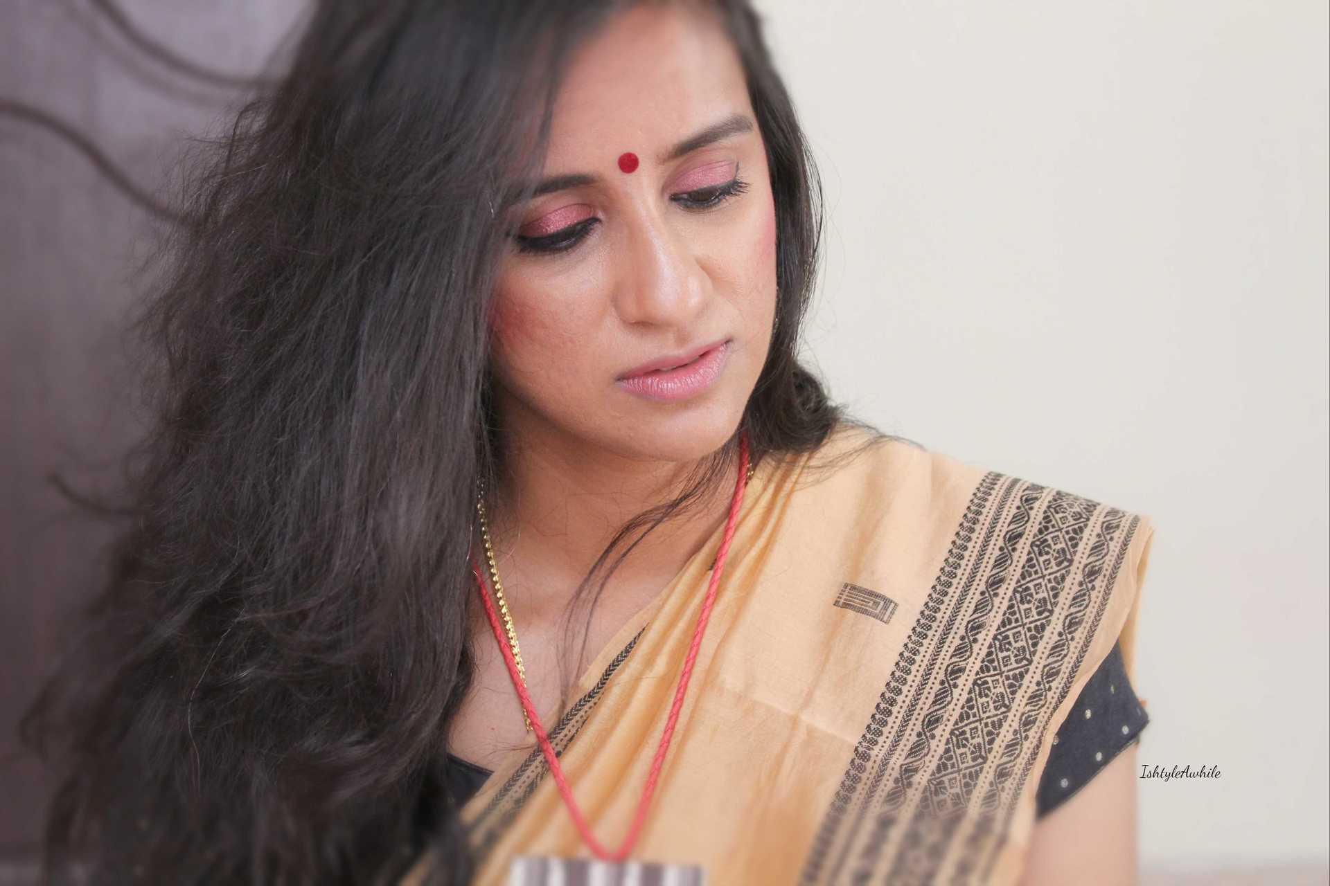 IshtyleAwhile - burgandy makeup look chennai beauty blogger