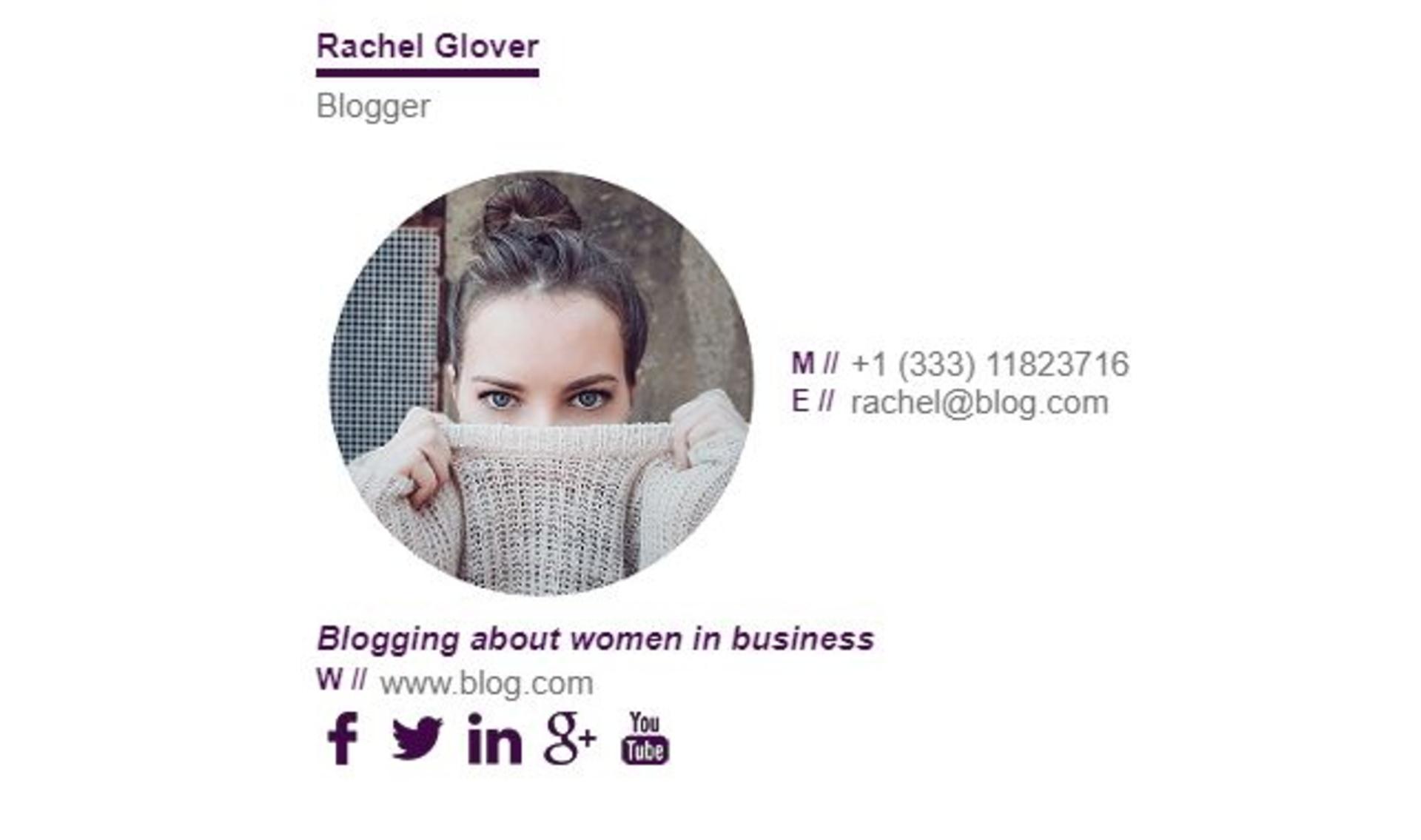Winkl Blog - email signature