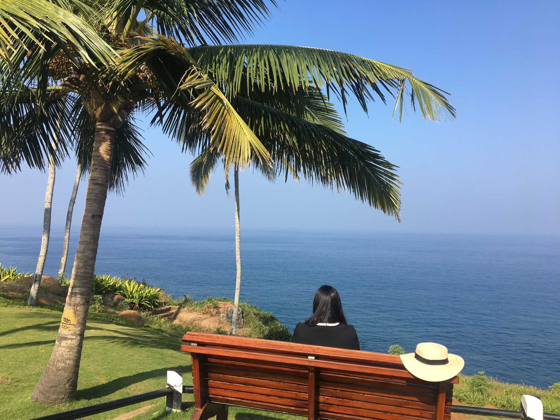 India's Only Cliff Top Resort; The Leela Kovalam | Jazzfoodtravelshop image