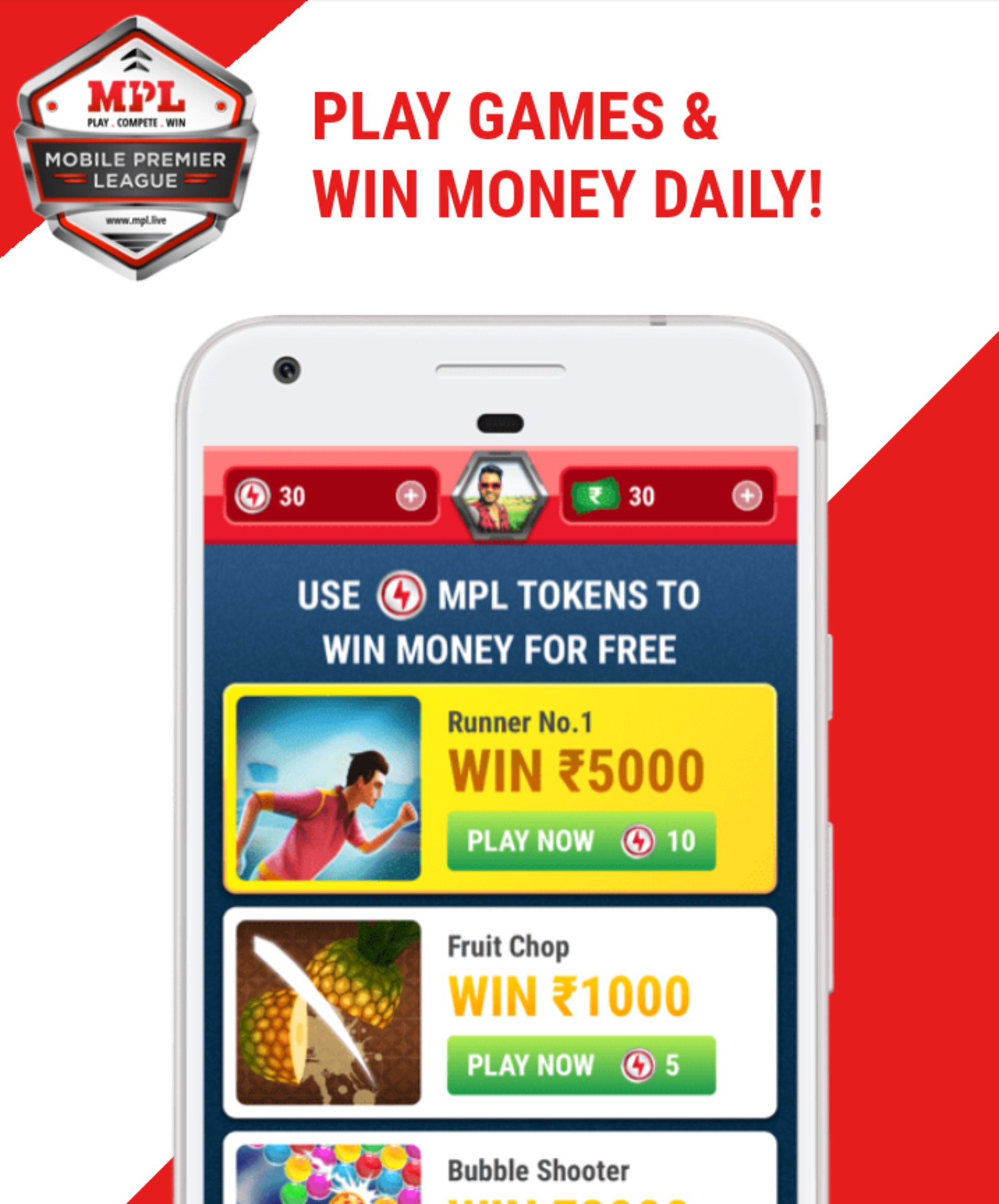 How to earn money via referral to friends and play cash tournaments in MPL? image