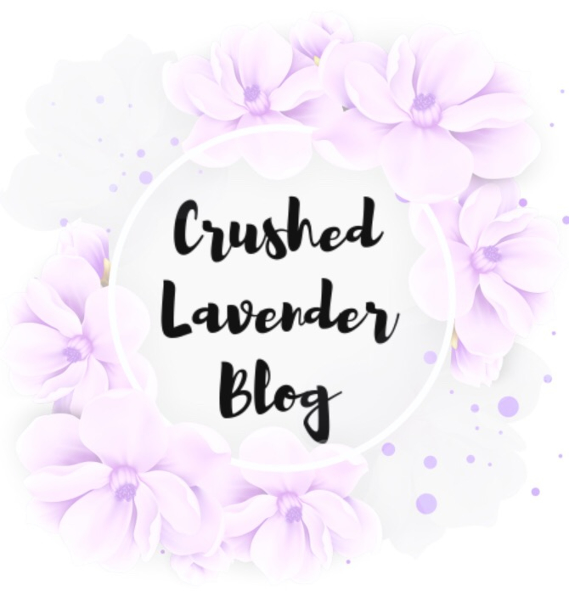 My Blogging Journey- Crushed Lavender Blog image
