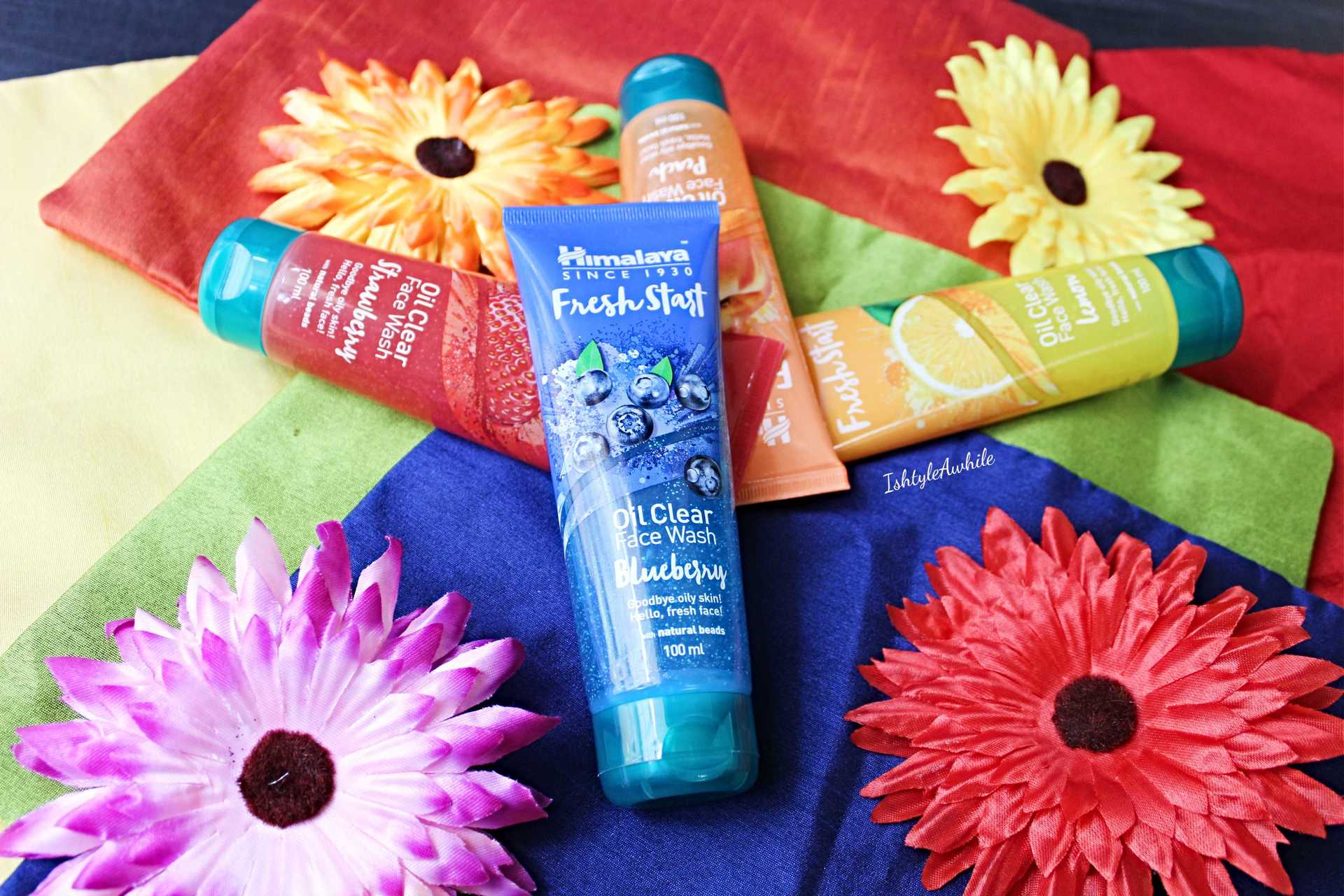 IshtyleAwhile - himalaya fresh start 4 variants facewash review