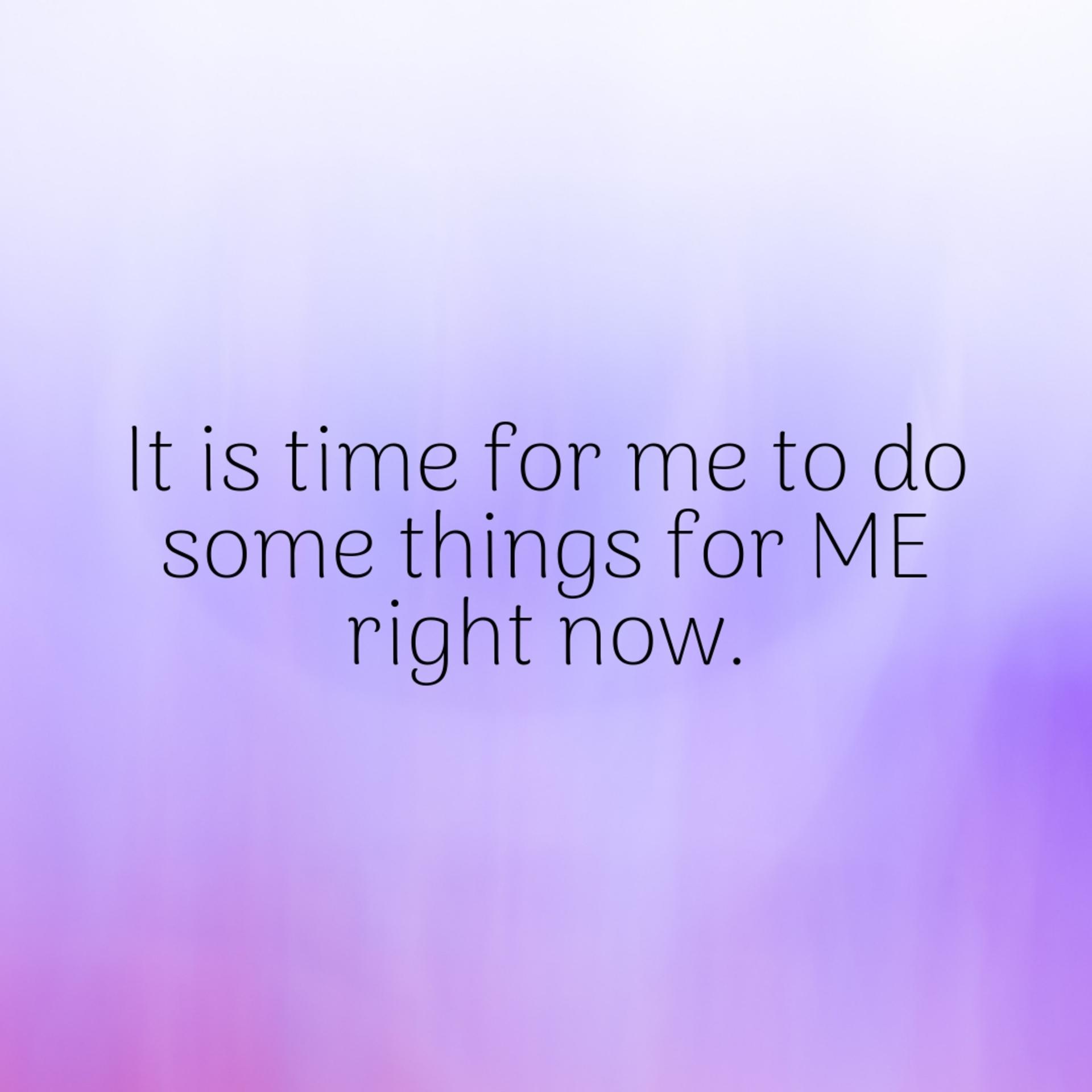 IshtyleAwhile - Me time