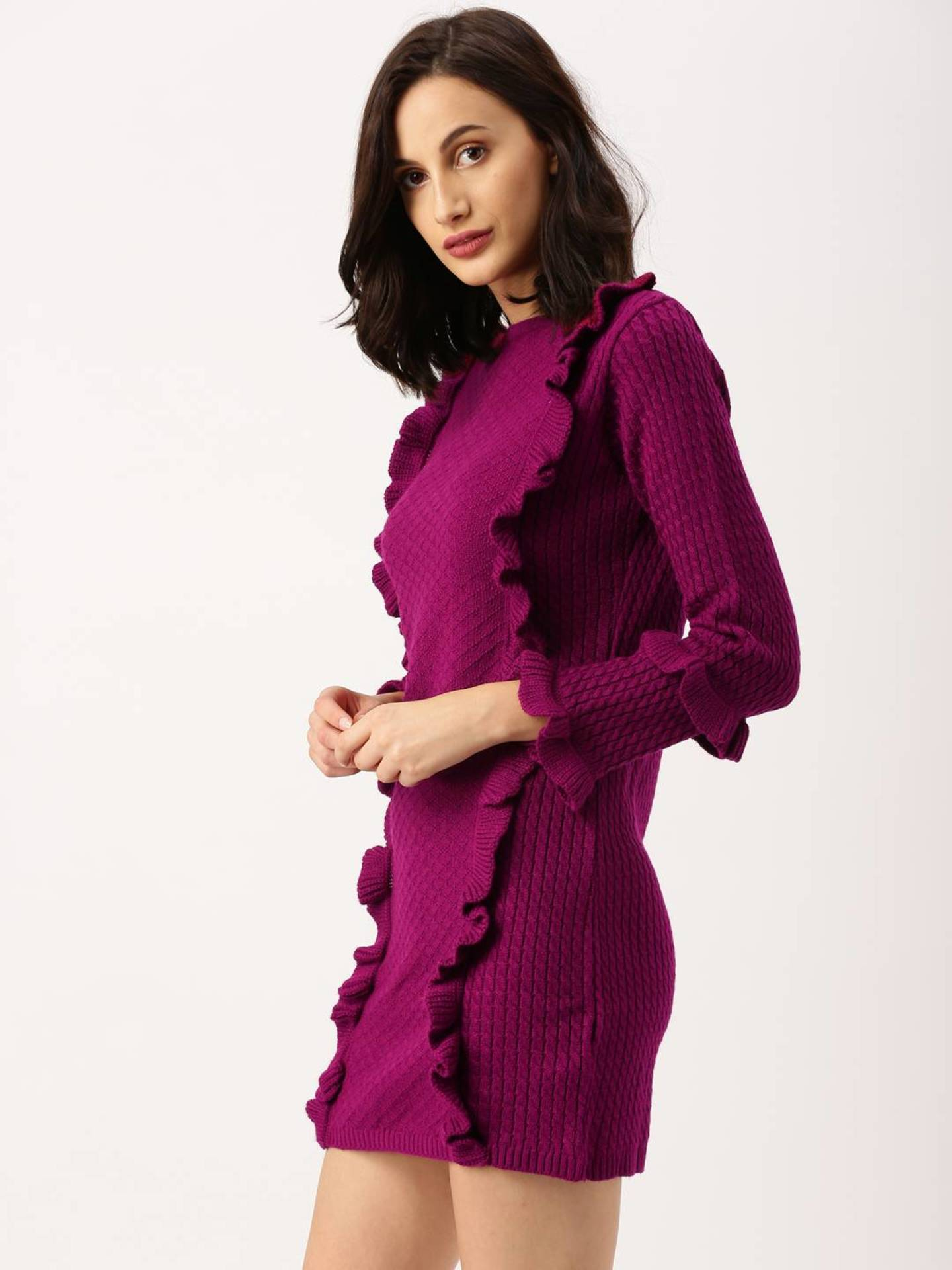 shopaholicpals - 11504689928113-all-about-you-Women-Magenta-Self-Design-Longline-3271504689927934-2