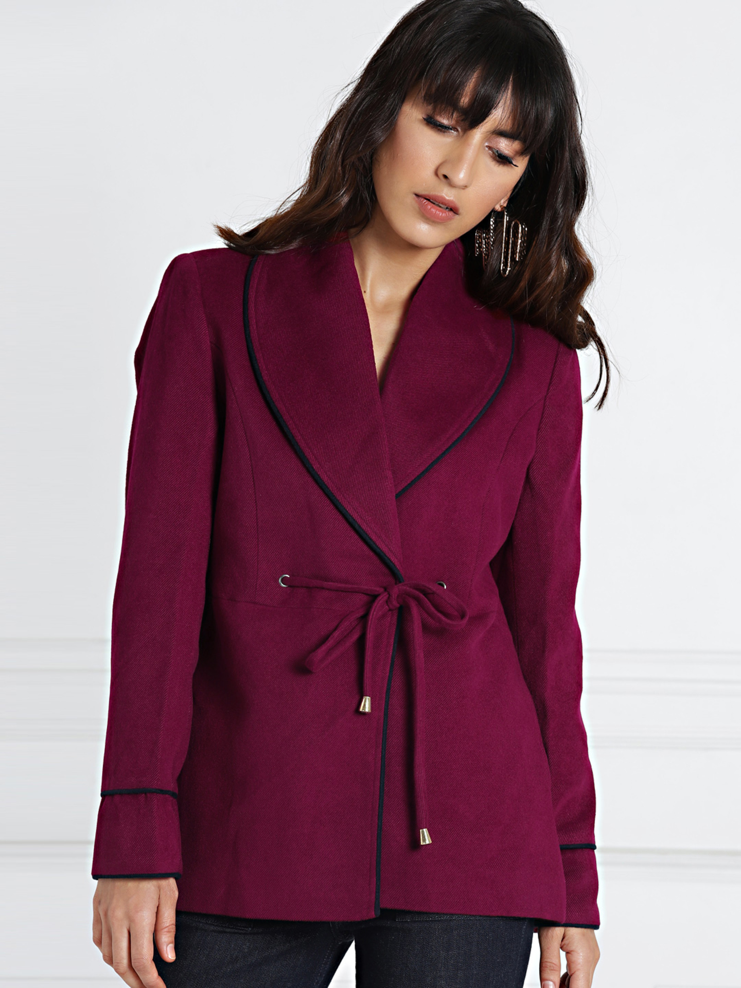 shopaholicpals - 5196ded4-4d0a-4ed7-a96f-a06a7ddee8281535374734942-all-about-you-from-Deepika-Padukone-Women-Burgundy-Solid-Tailored-Jacket-1511535374734783-1
