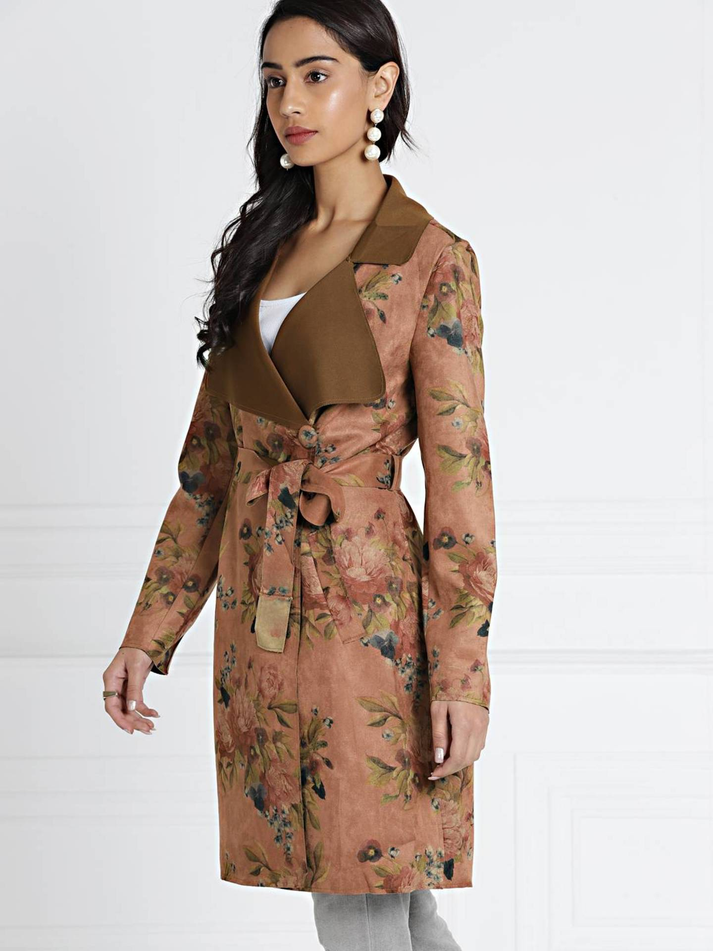 shopaholicpals - 3d79013b-79c4-4d2a-8861-d7f9115be7db1541162831137-all-about-you-Women-Brown-Printed-Tailored-Jacket-5661541162830896-3