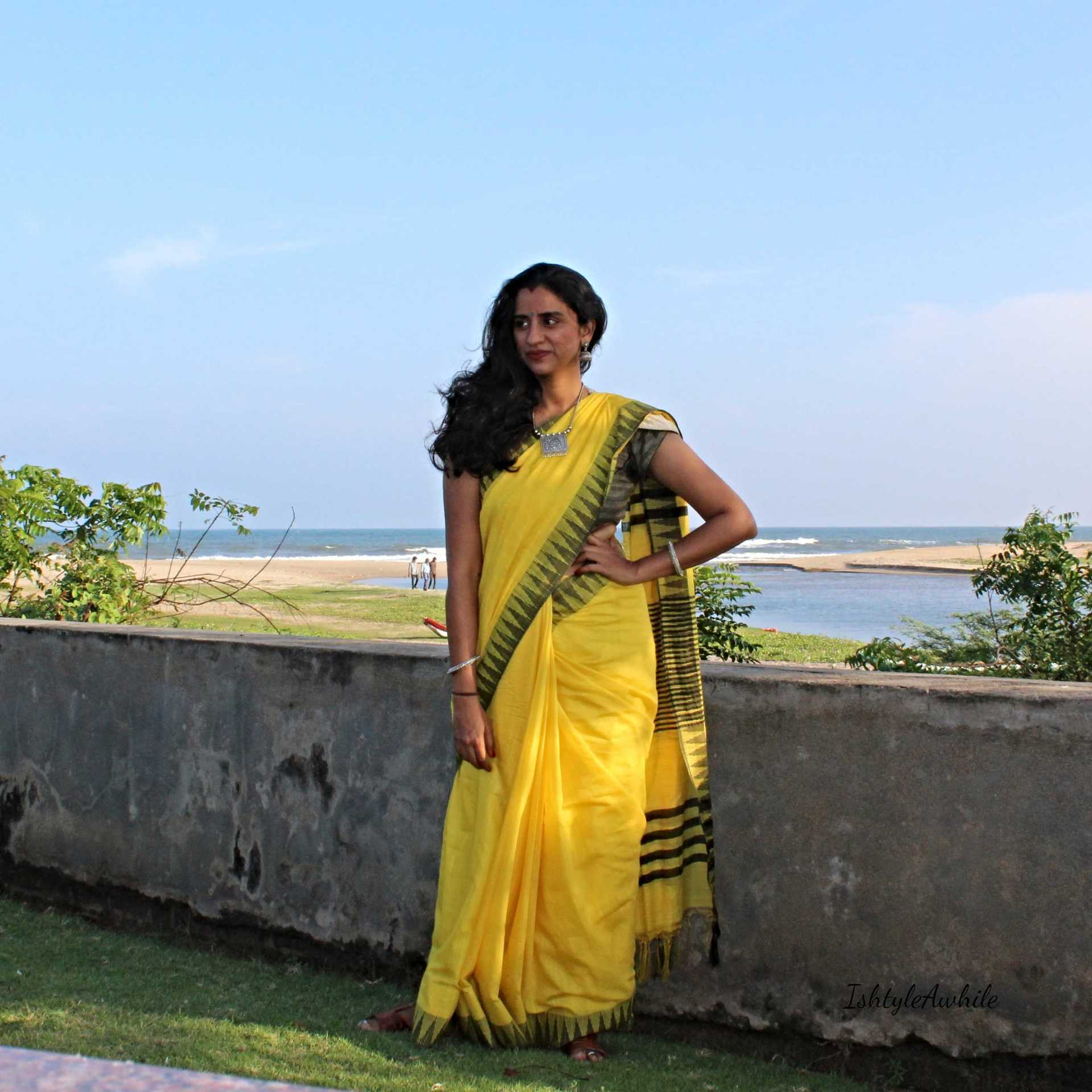 IshtyleAwhile - A Chennai based Indian Fashion Blog - tashi threads sari chennai fashion blogger