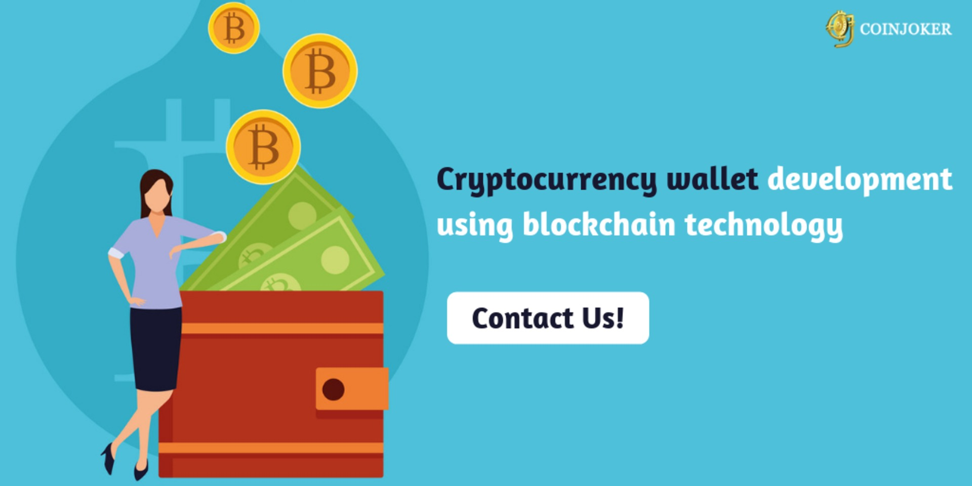 Cryptocurrency wallet development using blockchain technology image