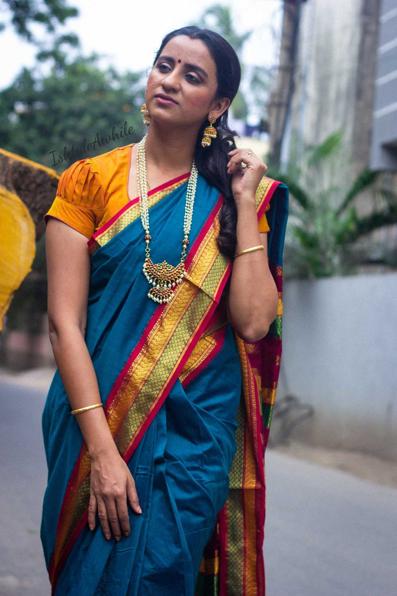 IshtyleAwhile - A Chennai based Indian Fashion Blog - How to style a silk saree south indian