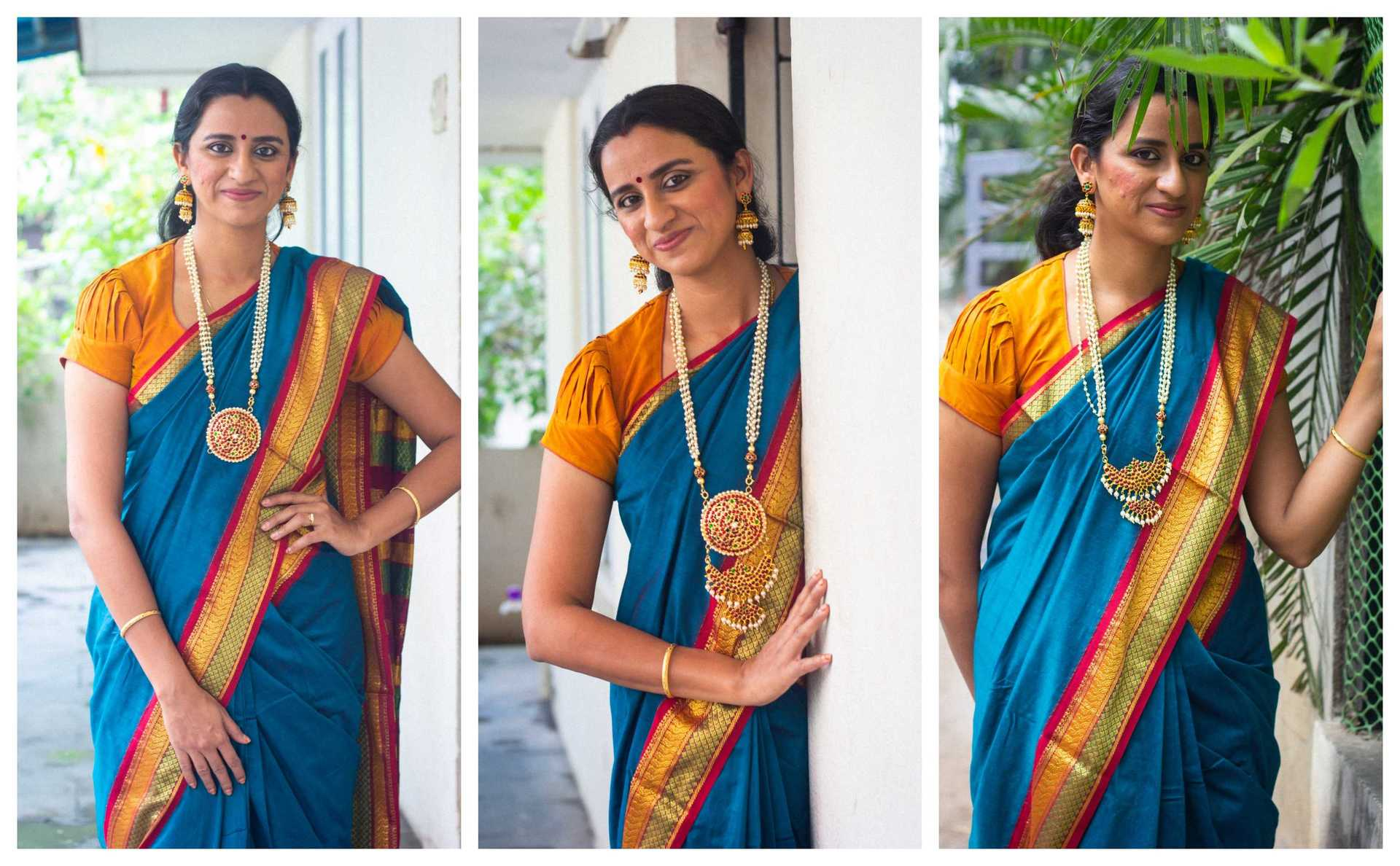 IshtyleAwhile - A Chennai based Indian Fashion Blog - spun silk sarees online Sreetex