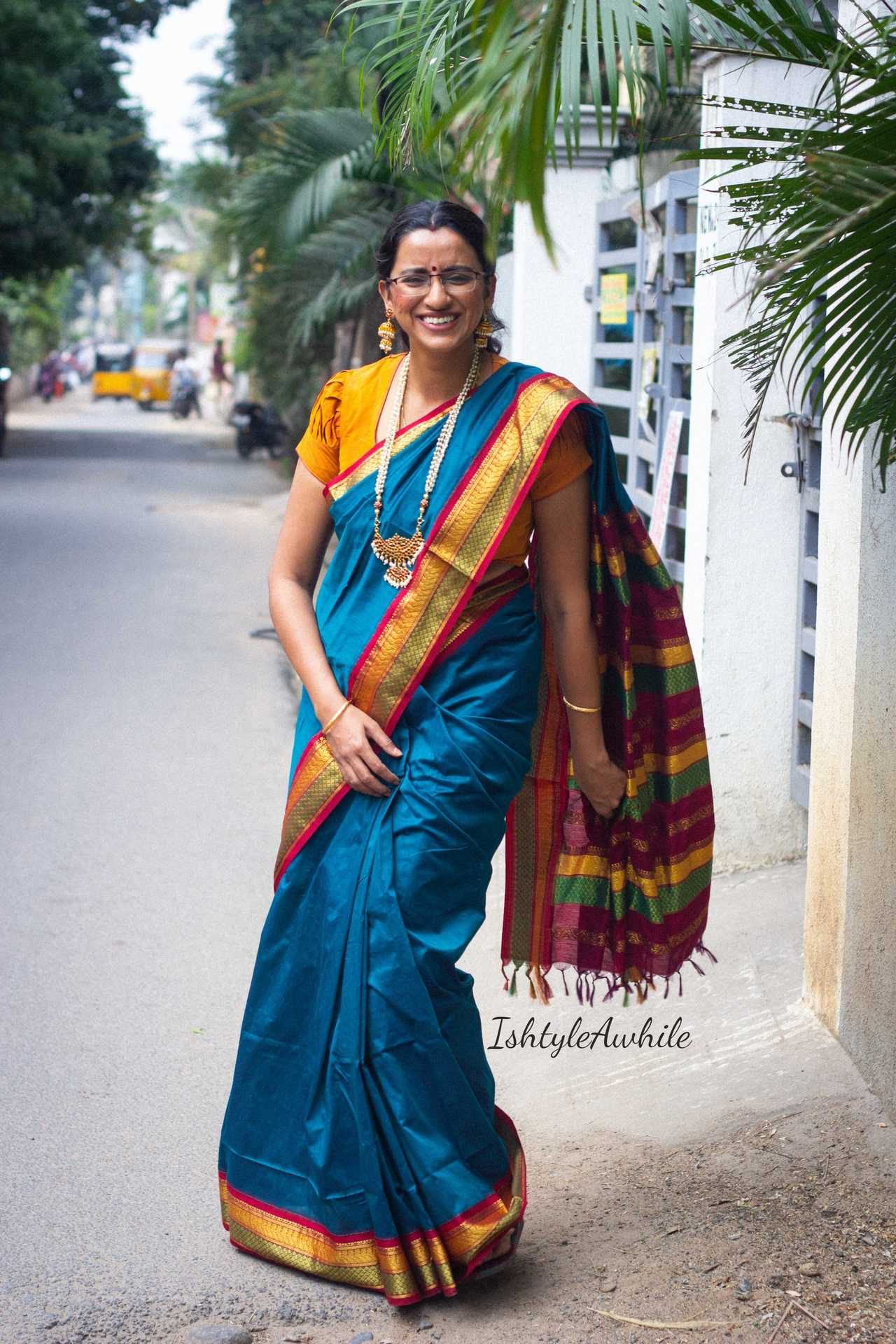 IshtyleAwhile - A Chennai based Indian Fashion Blog - styling tips for a silk saree south indian