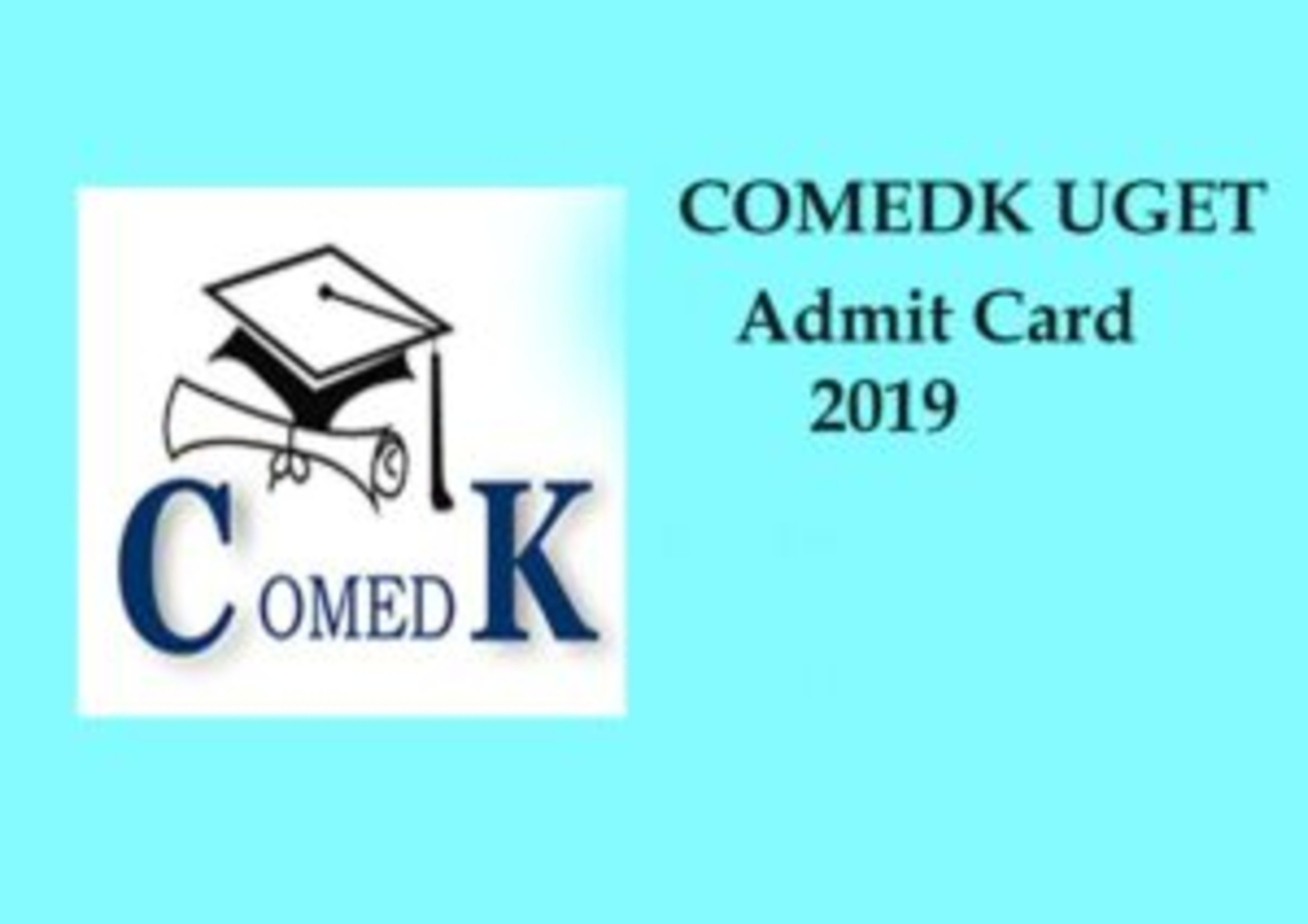 COMEDK Hall Ticket 2019 image