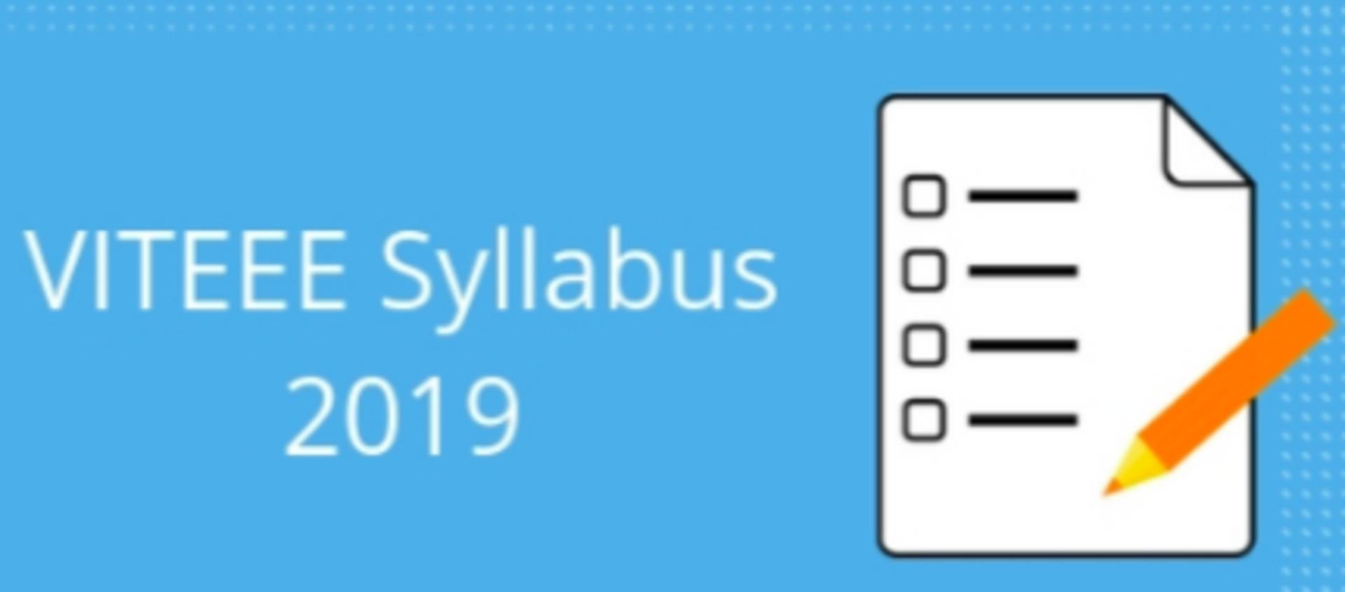 VITEEE 2019 Syllabus image