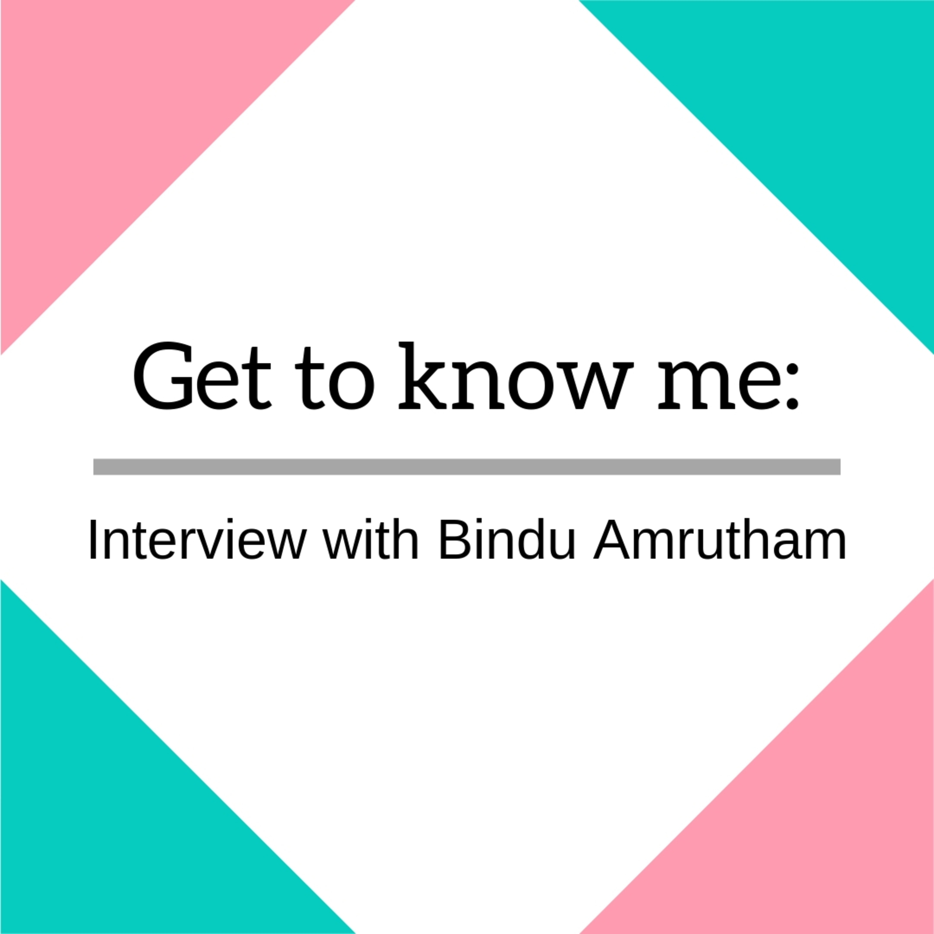 Let's Talk to: Bindu Amrutham image