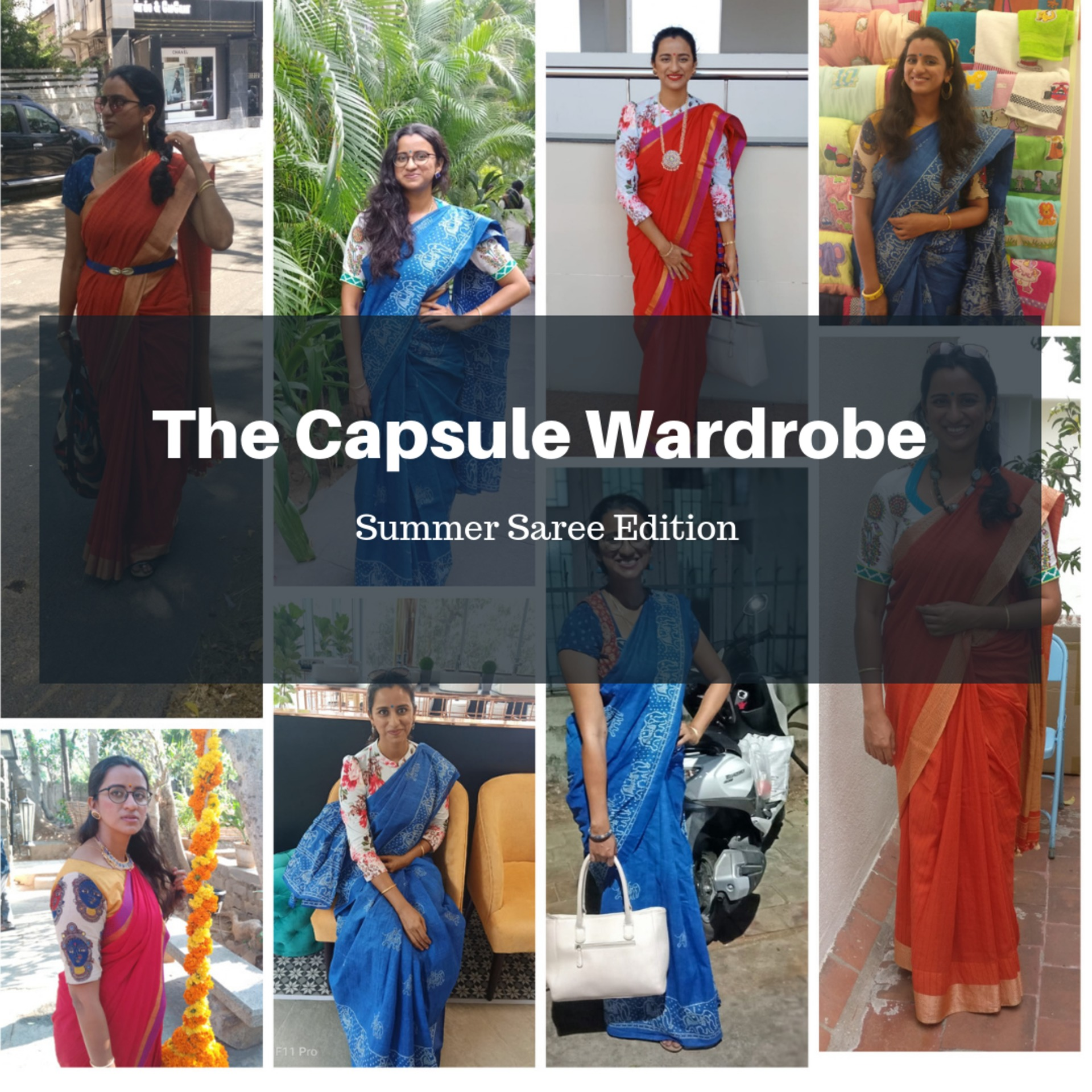 Capsule Wardrobe Collection: Summer Saree Edition image