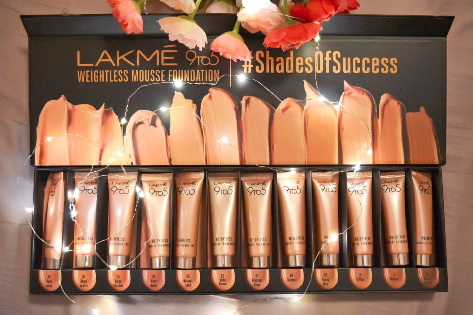 Lakme 9 to 5 Weightless Mousse Foundation Swatches + Review! image