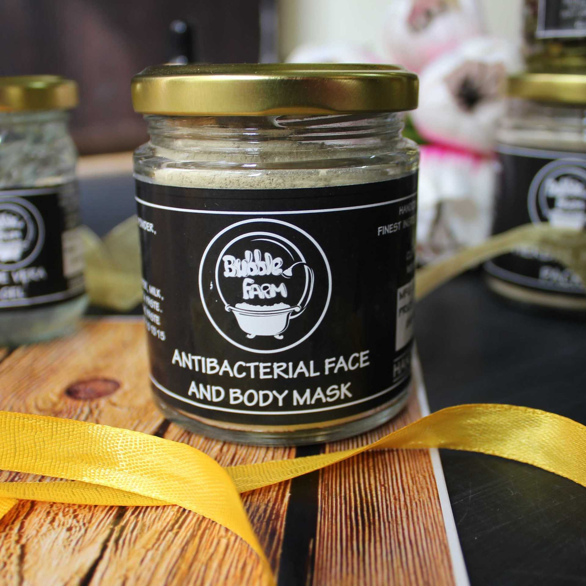 IshtyleAwhile Indian skincare blog bubble farm antibacterial face and body mask
