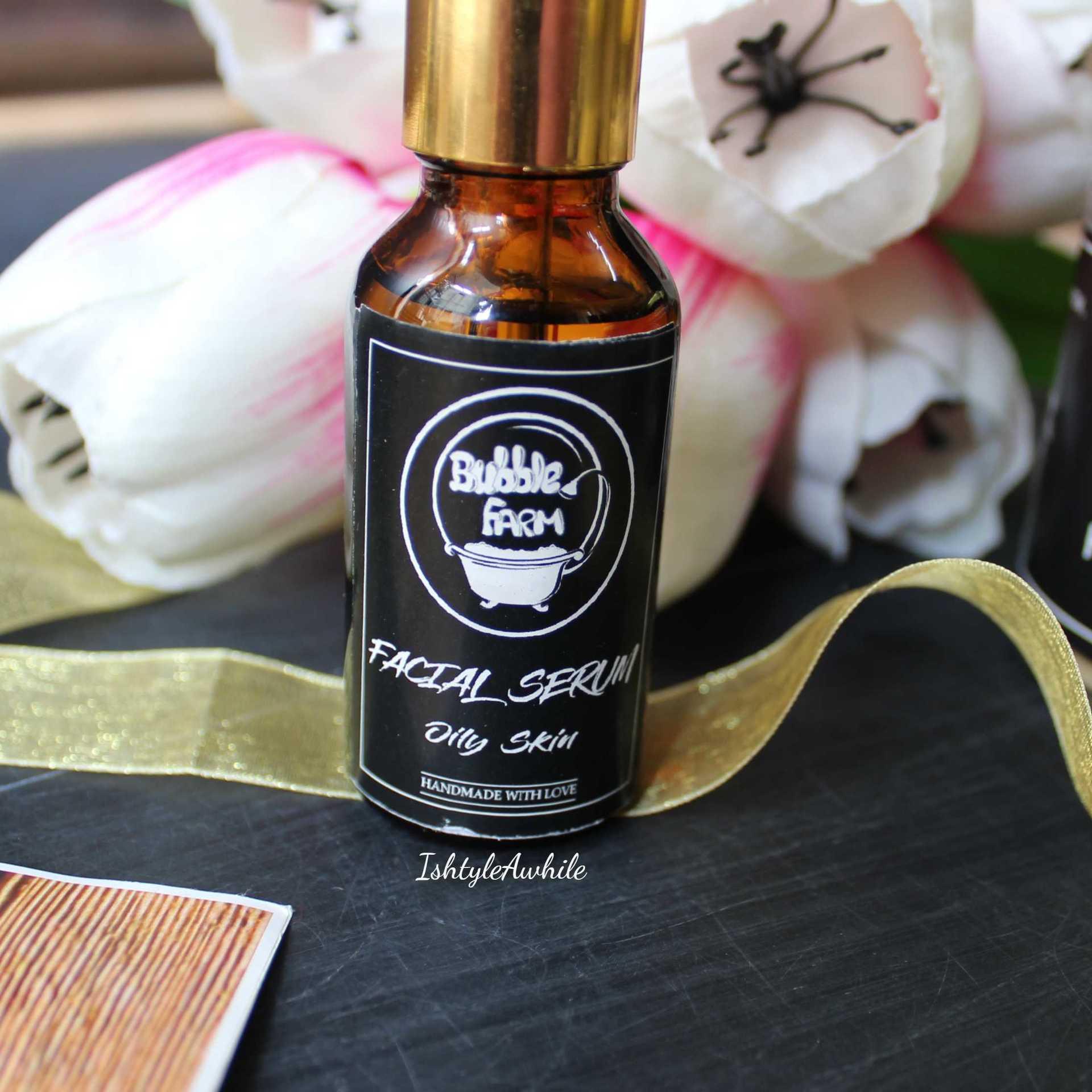 IshtyleAwhile - A Chennai based Indian Fashion Blog - Facial Serum for oily skin bubble farm skincare
