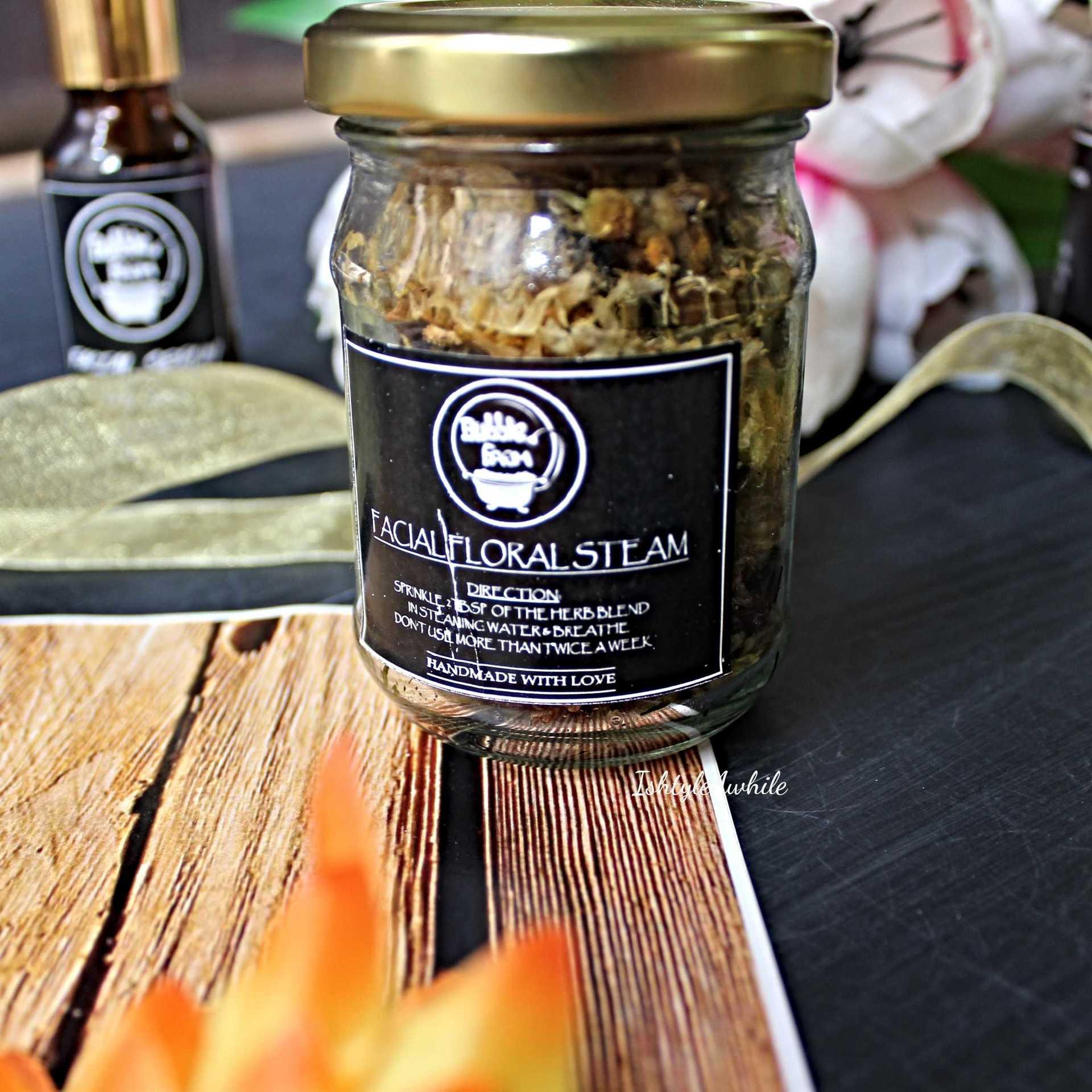 IshtyleAwhile - A Chennai based Indian Fashion Blog - Facial Floral Steam bubble farm skincare products