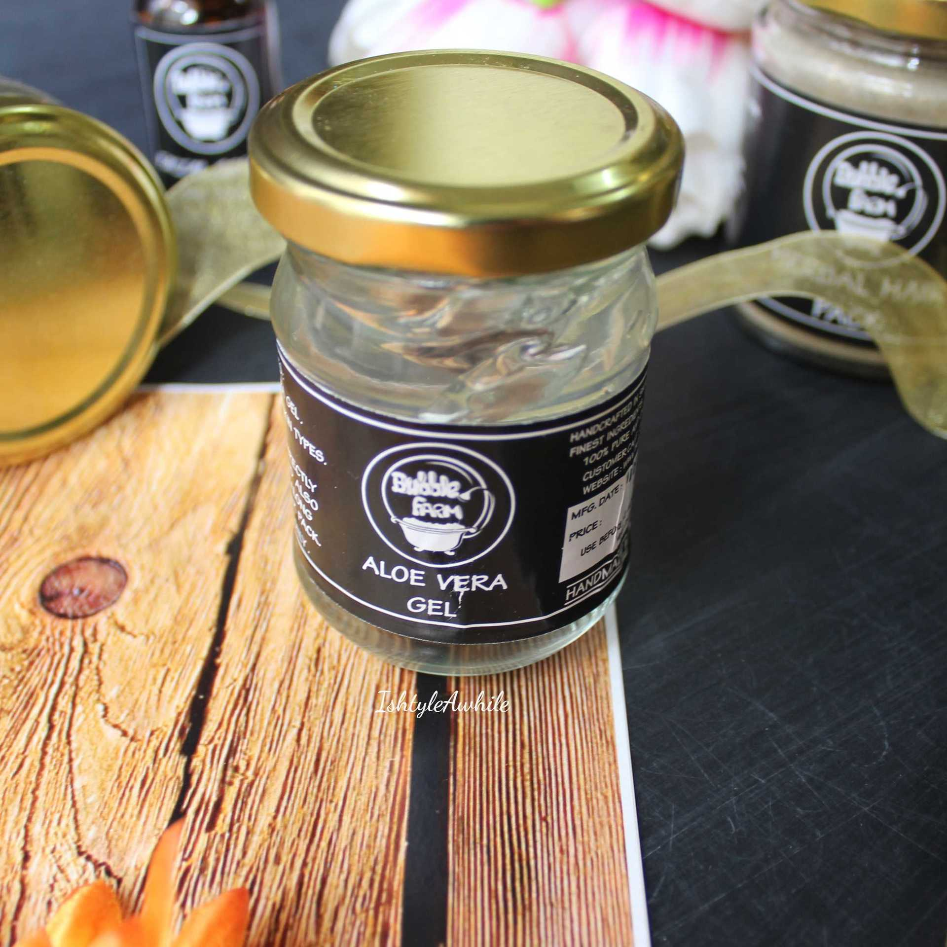 IshtyleAwhile - A Chennai based Indian Fashion Blog - Bubble Farm pure aloe vera gel