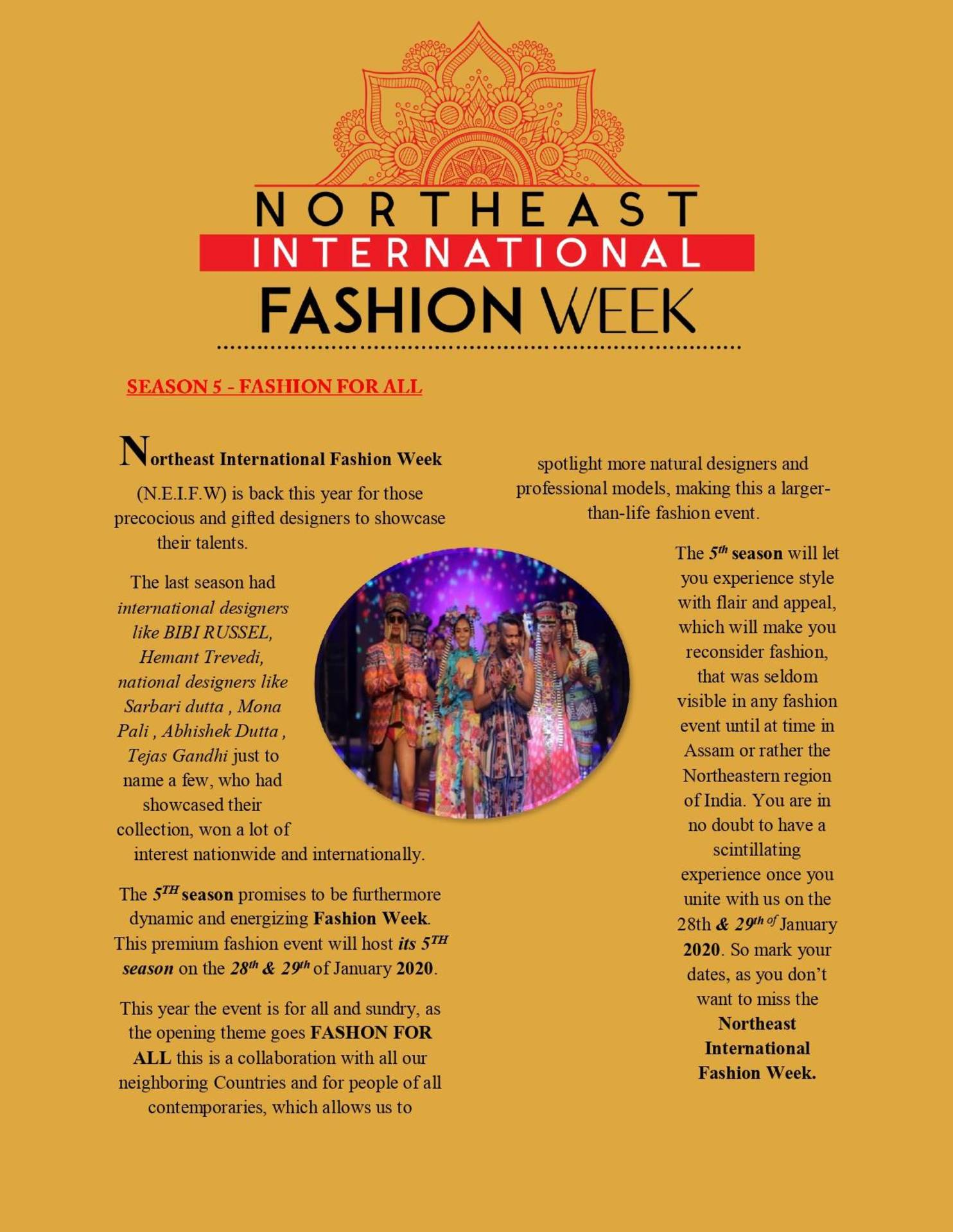 NORTHEAST INTERNATIONAL FASHION WEEK image