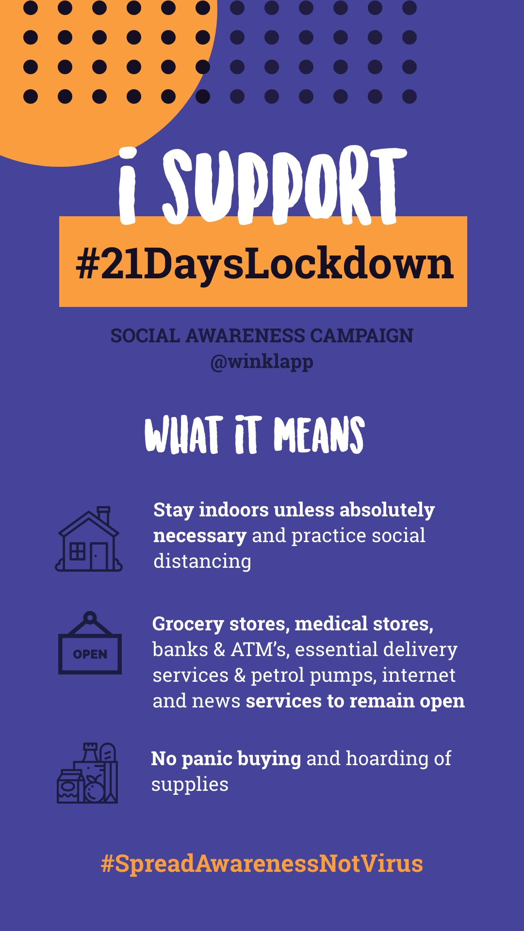 21DaysLockdown - Social Awareness Campaign image