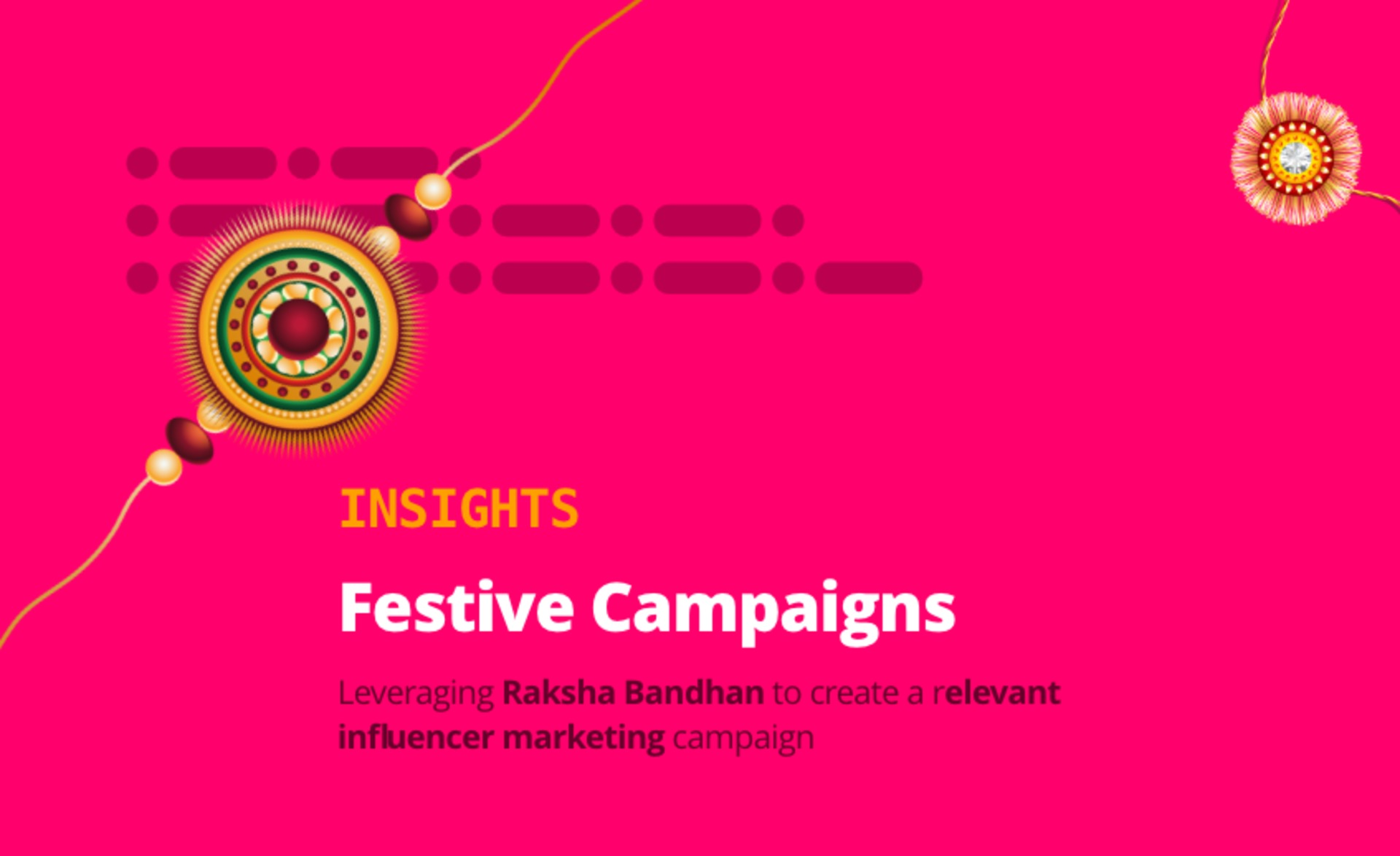 Ideas for your Raksha Bandhan themed influencer marketing campaign image