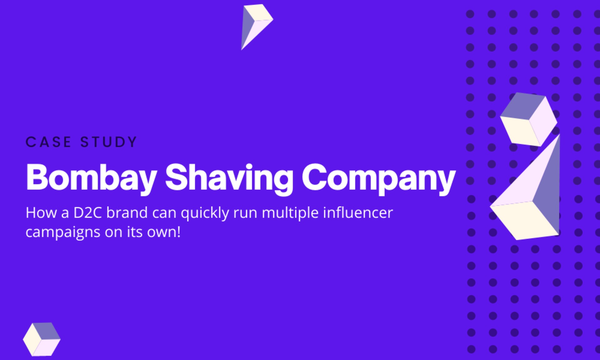 How a D2C brand can quickly run multiple influencer campaigns on its own! image