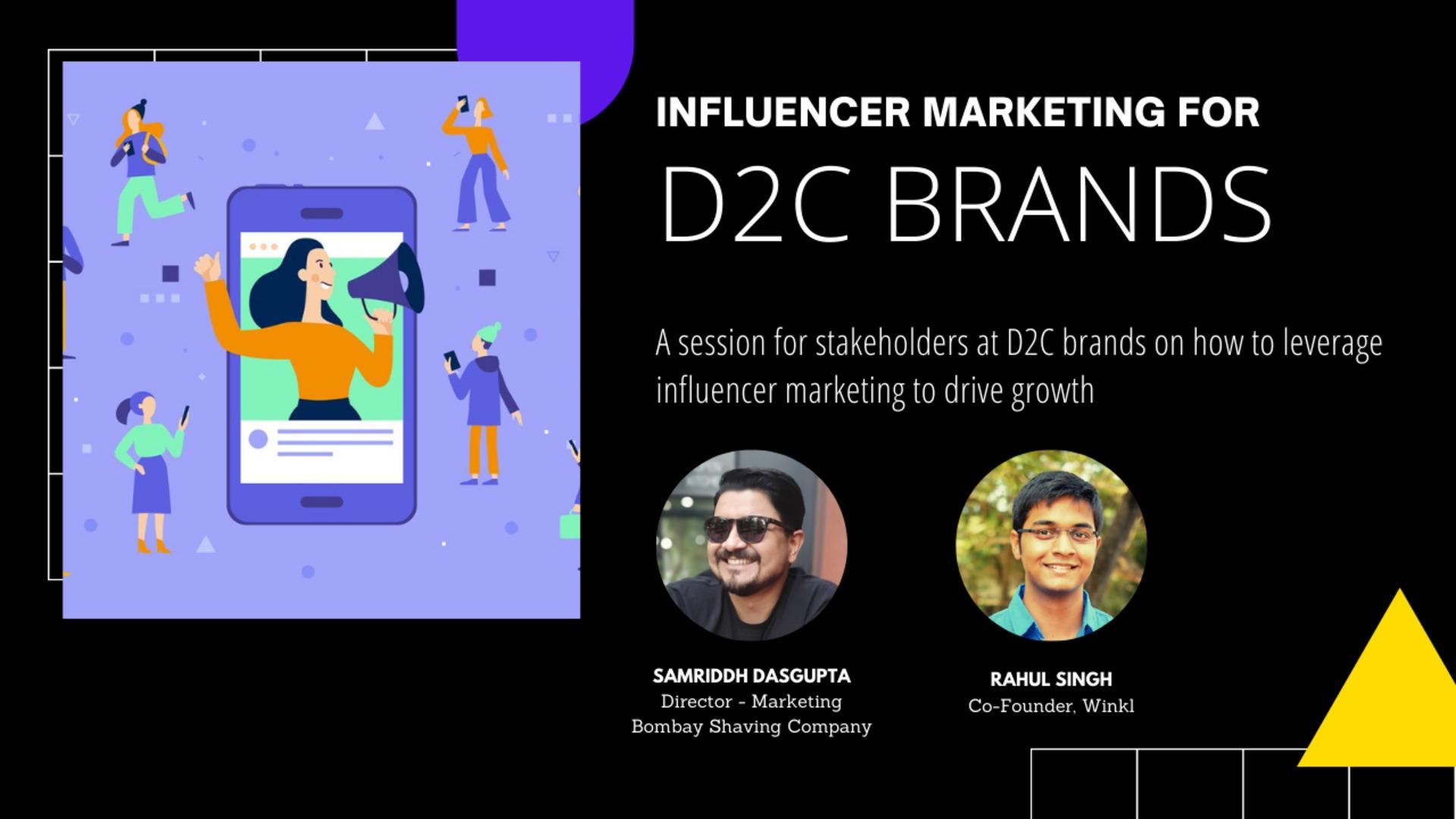 Winkl Chats: Influencer Marketing for D2C Brands with Samriddh Dasgupta @ Bombay Shaving Company image