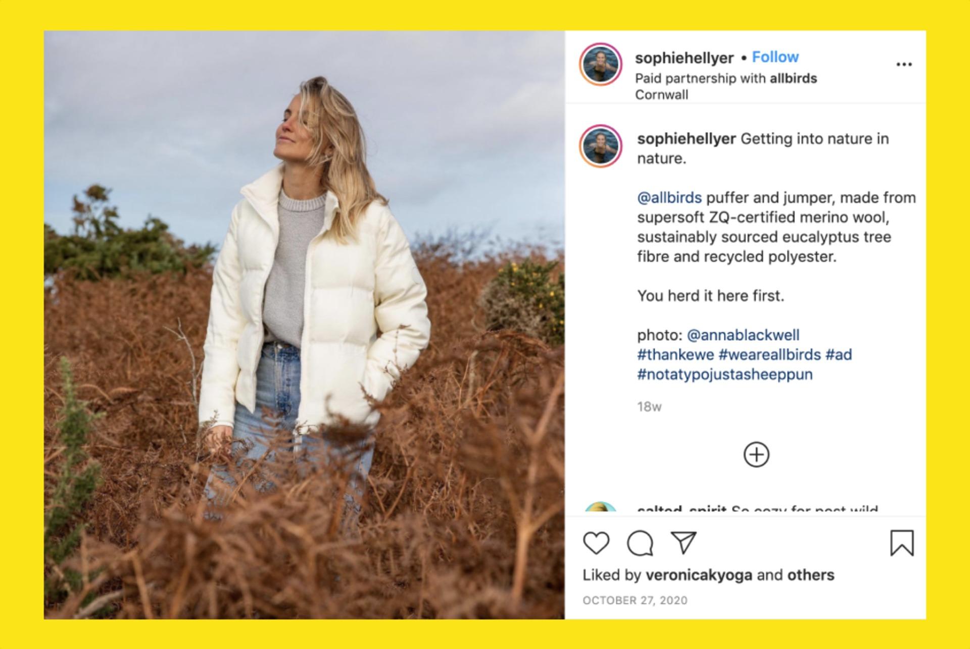 Winkl on Influencer Marketing - Allbirds influencer marketing campaign