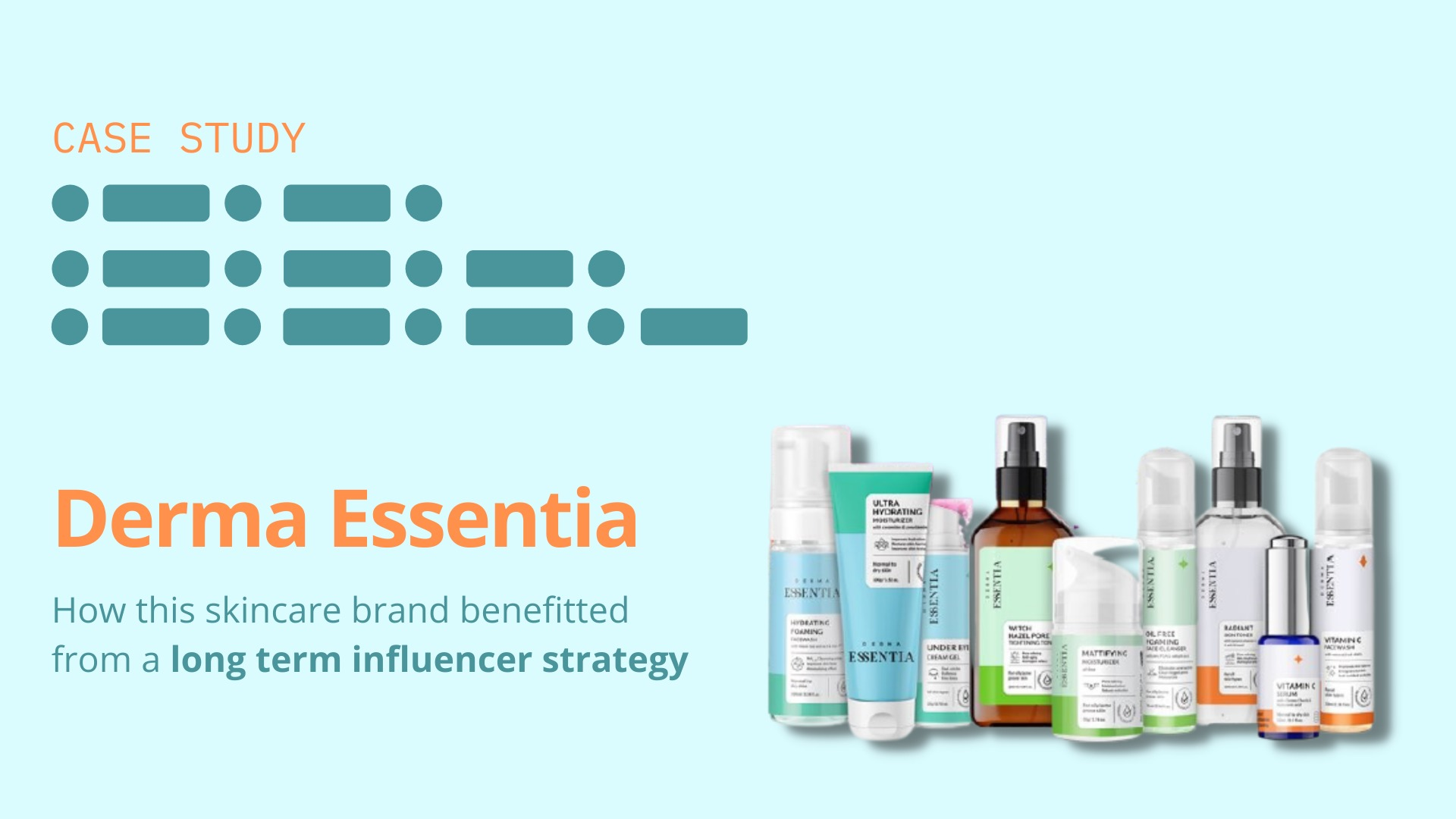 Derma Essentia: How this skincare brand benefitted from a long term influencer strategy image