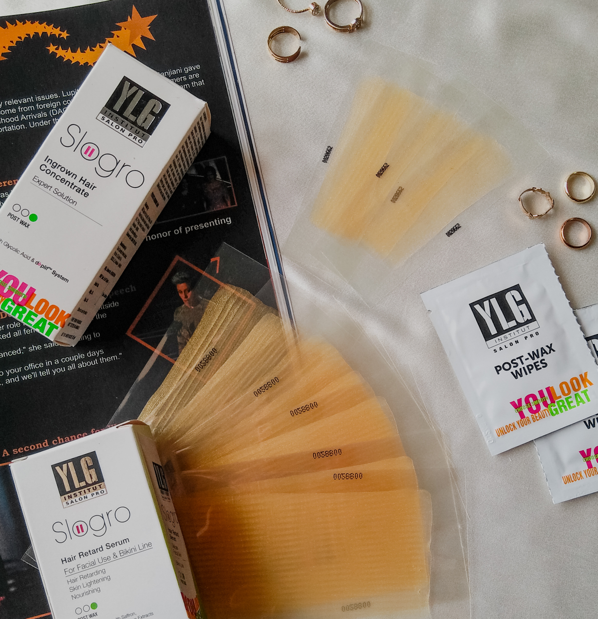YLG Gold Glitter Brightening Cold Wax Strips - Review    image