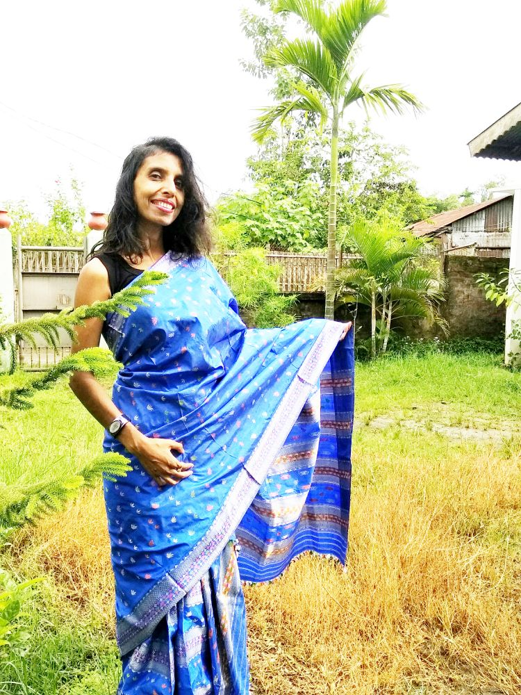 Creation of a ethnic style with my traditional dress of Assam, mekhela chador image