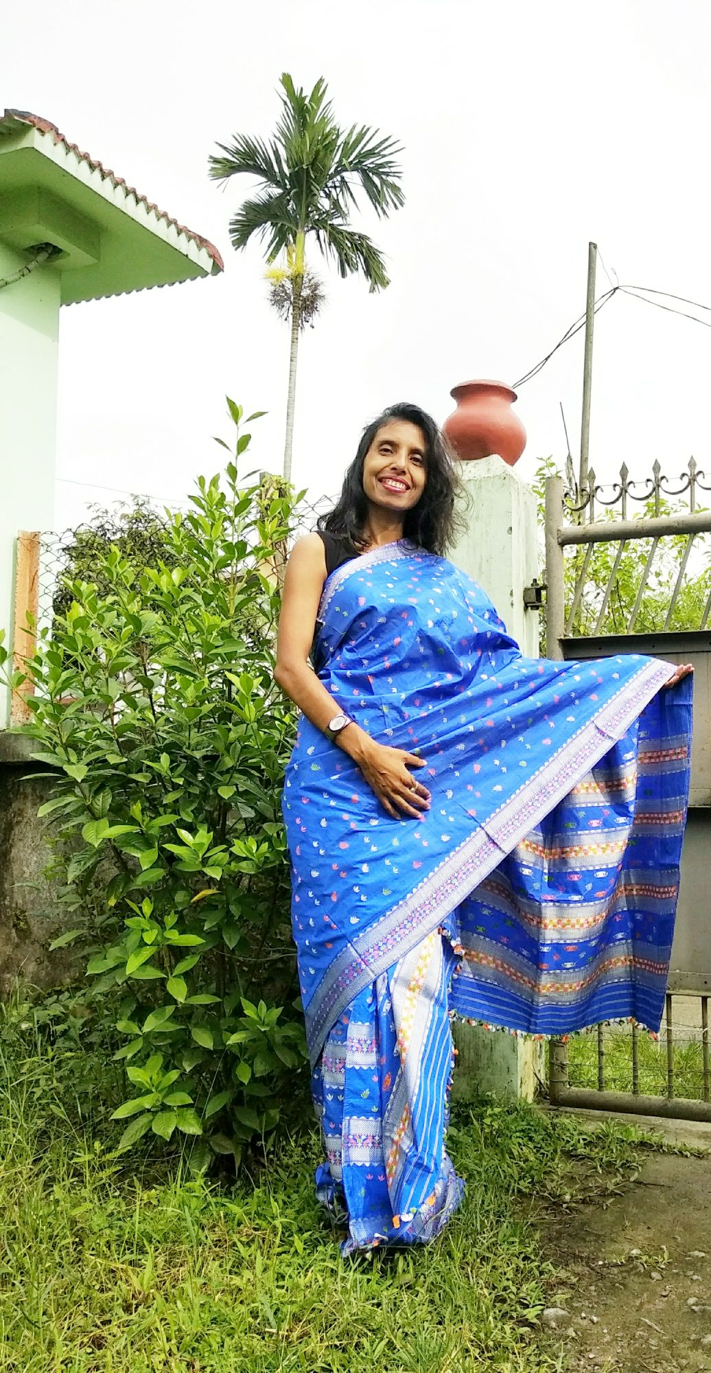 allboutfashion-Creation of a ethnic style with my traditional dress of Assam, mekhela chador