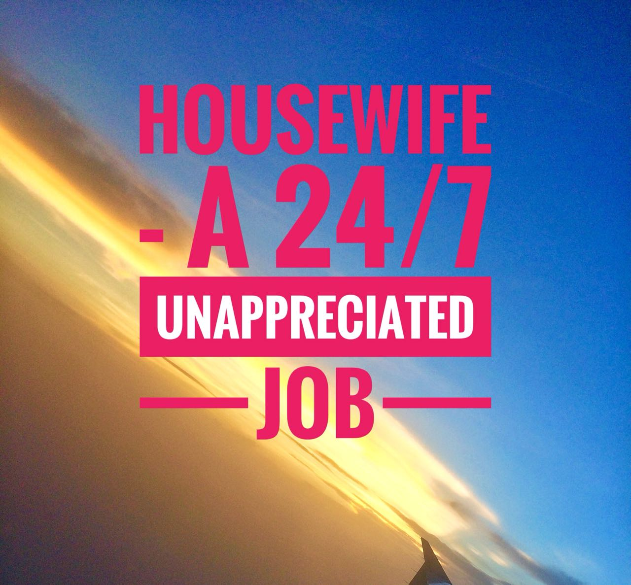 Poonzworld-HOUSEWIFE - An Unappreciated 24/7 Job
